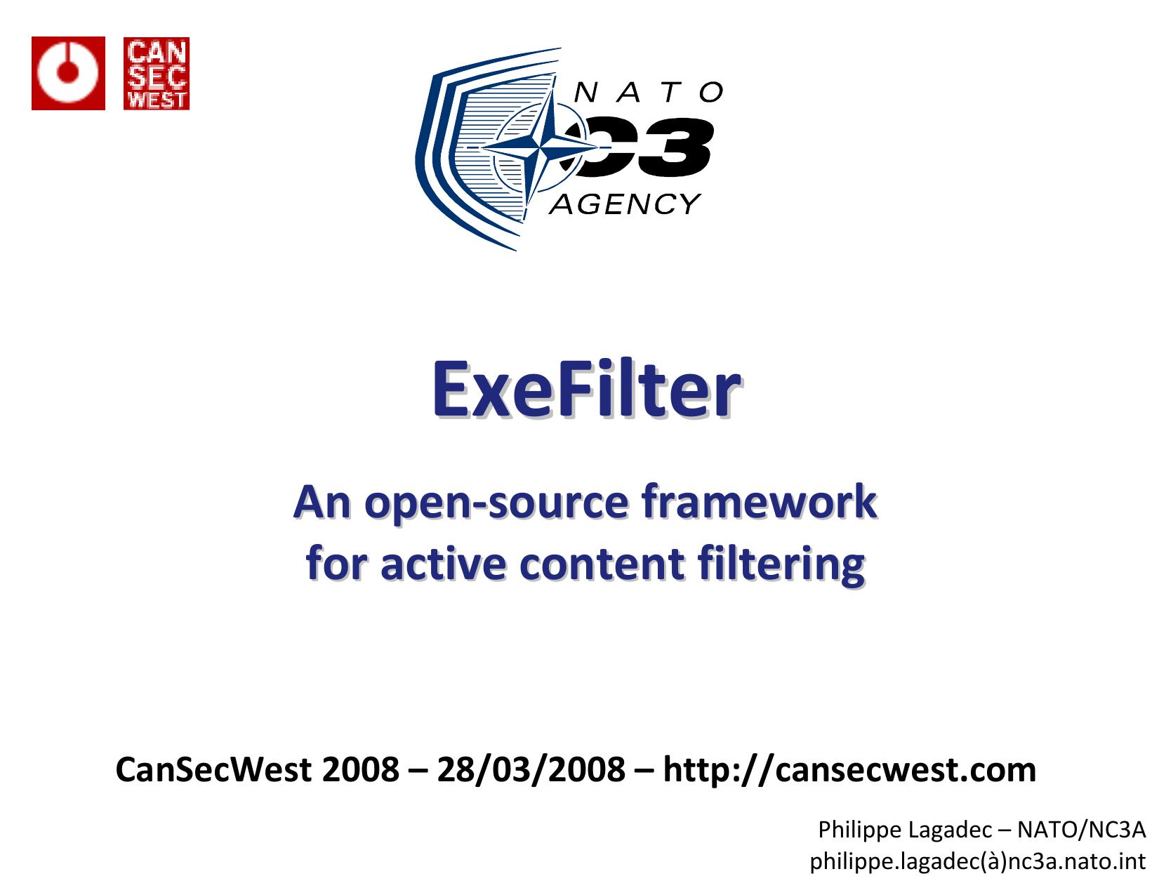 ExeFilter - decalage info | manualzz com