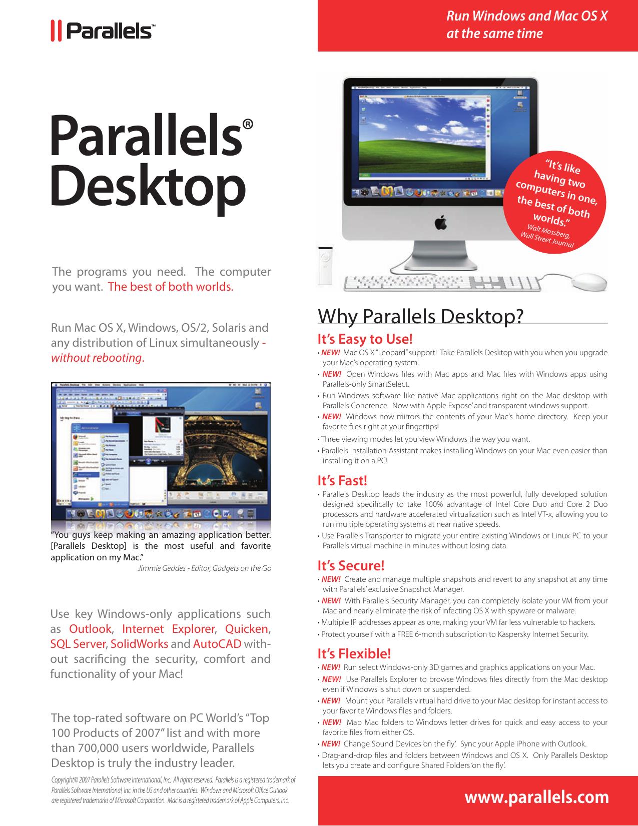 Parallels Desktop - videostation info | manualzz com