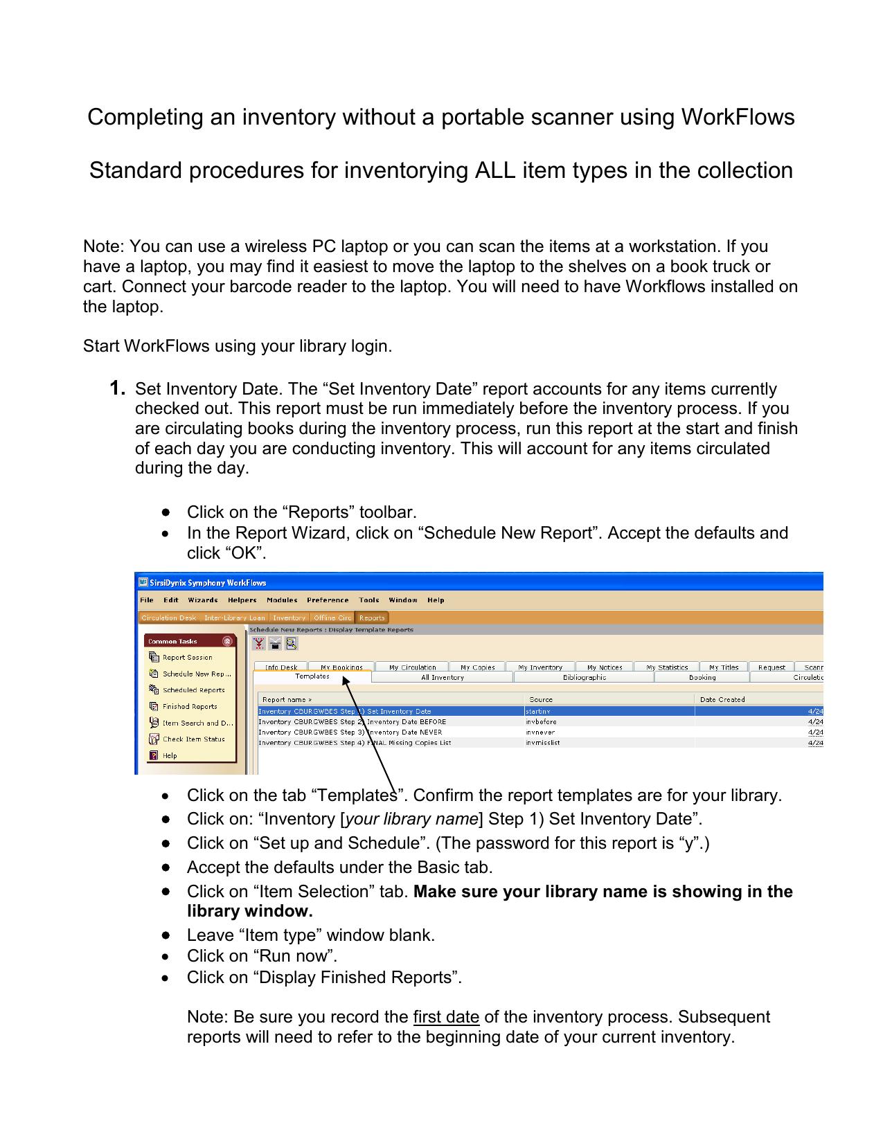 Performing Inventory using Symphony WorkFlows   manualzz com