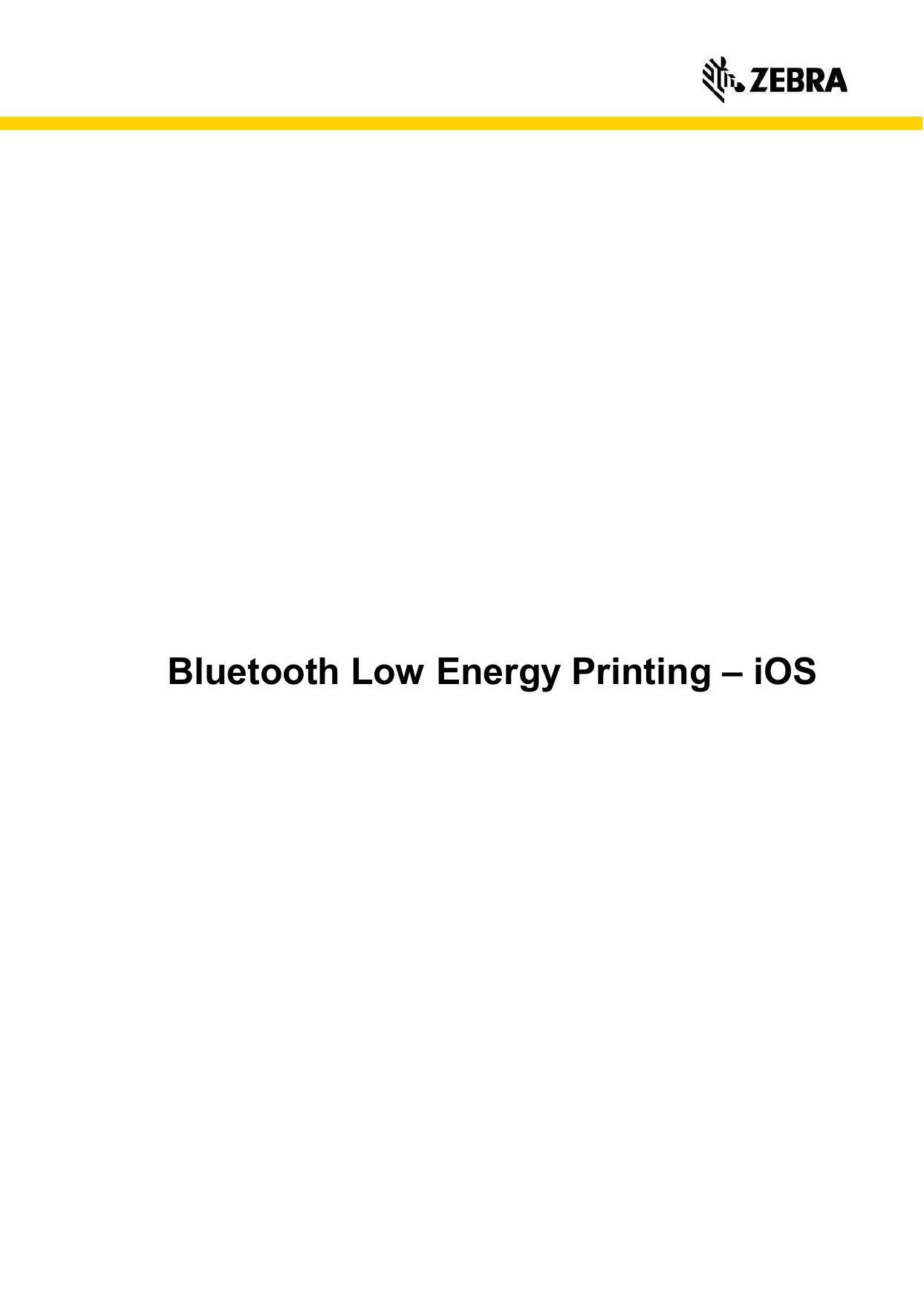 Bluetooth Low Energy Printing – iOS | manualzz com