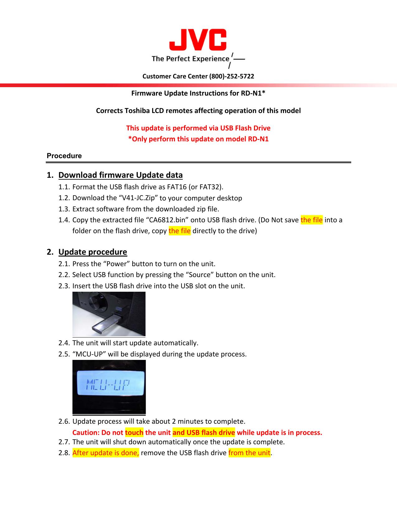 1  firmware Update data 2  Update procedure | manualzz com