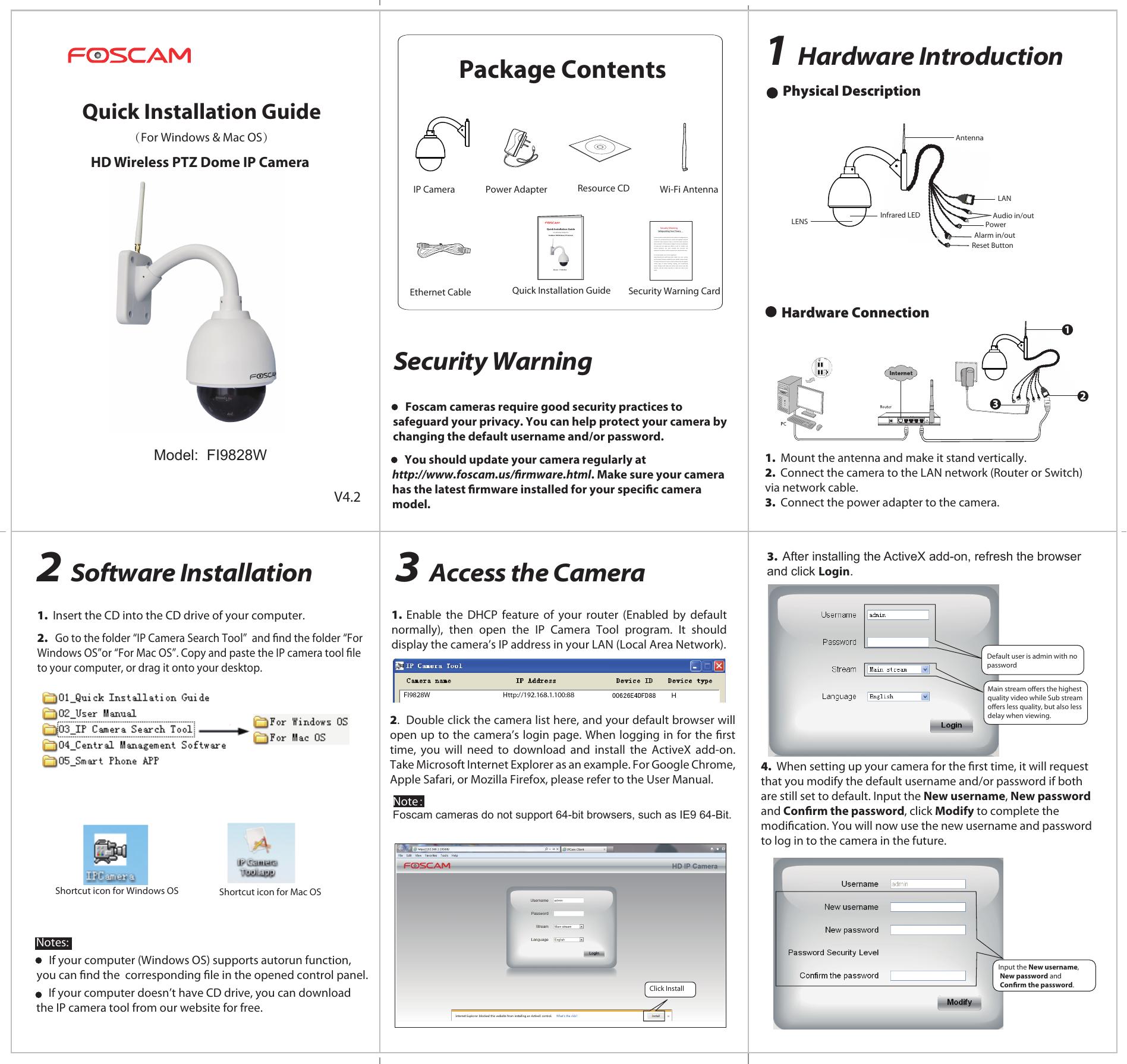 EE200314_美国Amcrest FI9828W 客户定制 快速安装 | manualzz com