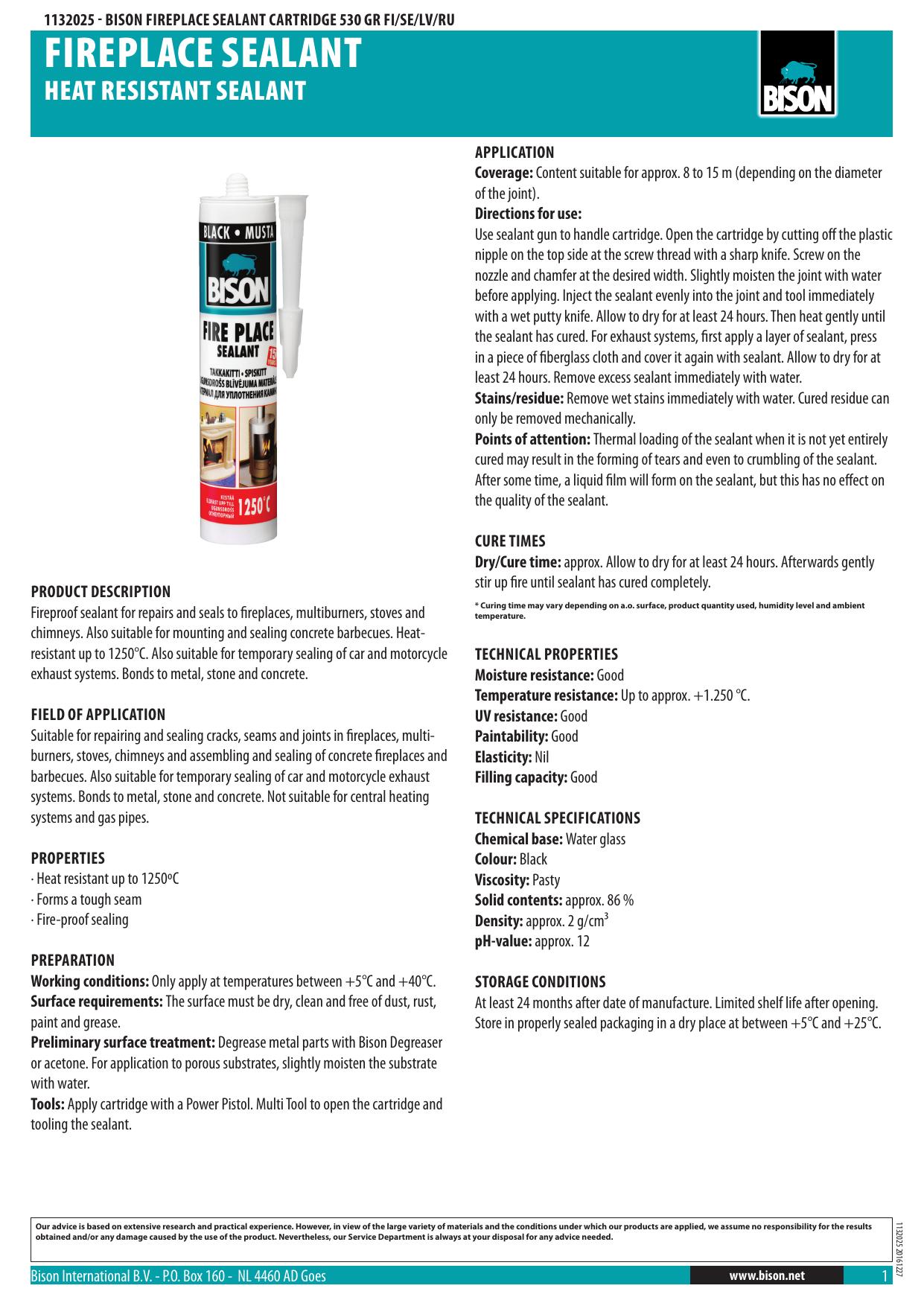 Fireplace Sealant Manualzz