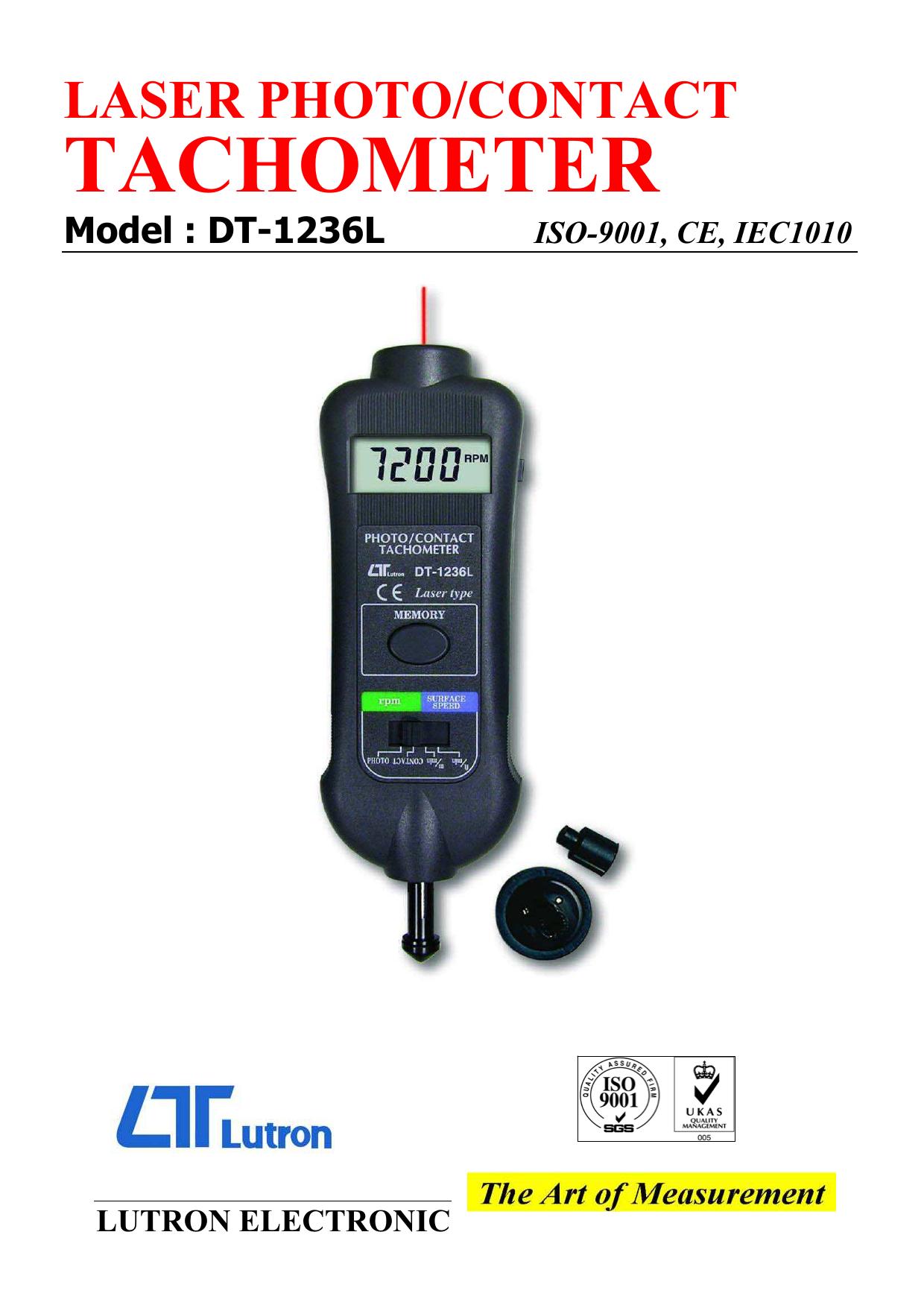 Tachometer Lutron DT1236L
