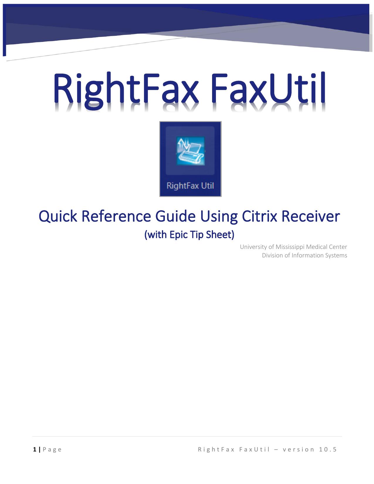 RightFax Instructions through Citrix | manualzz com