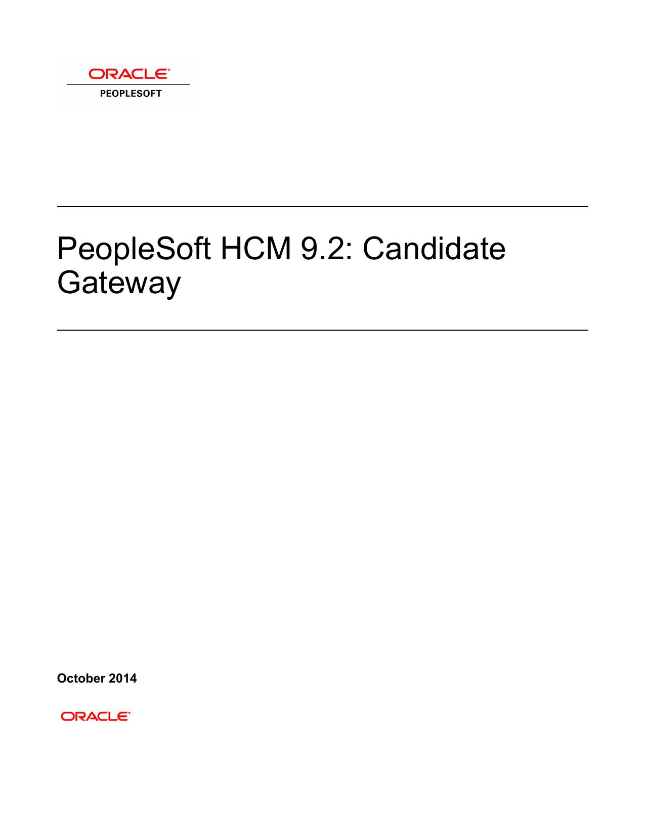 Peoplesoft Hcm 9 2 Candidate Gateway Manualzz Com