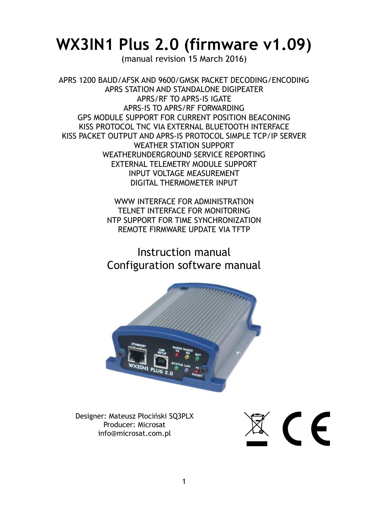 WX3IN1 Plus 2 0 (firmware v1 09) | manualzz com