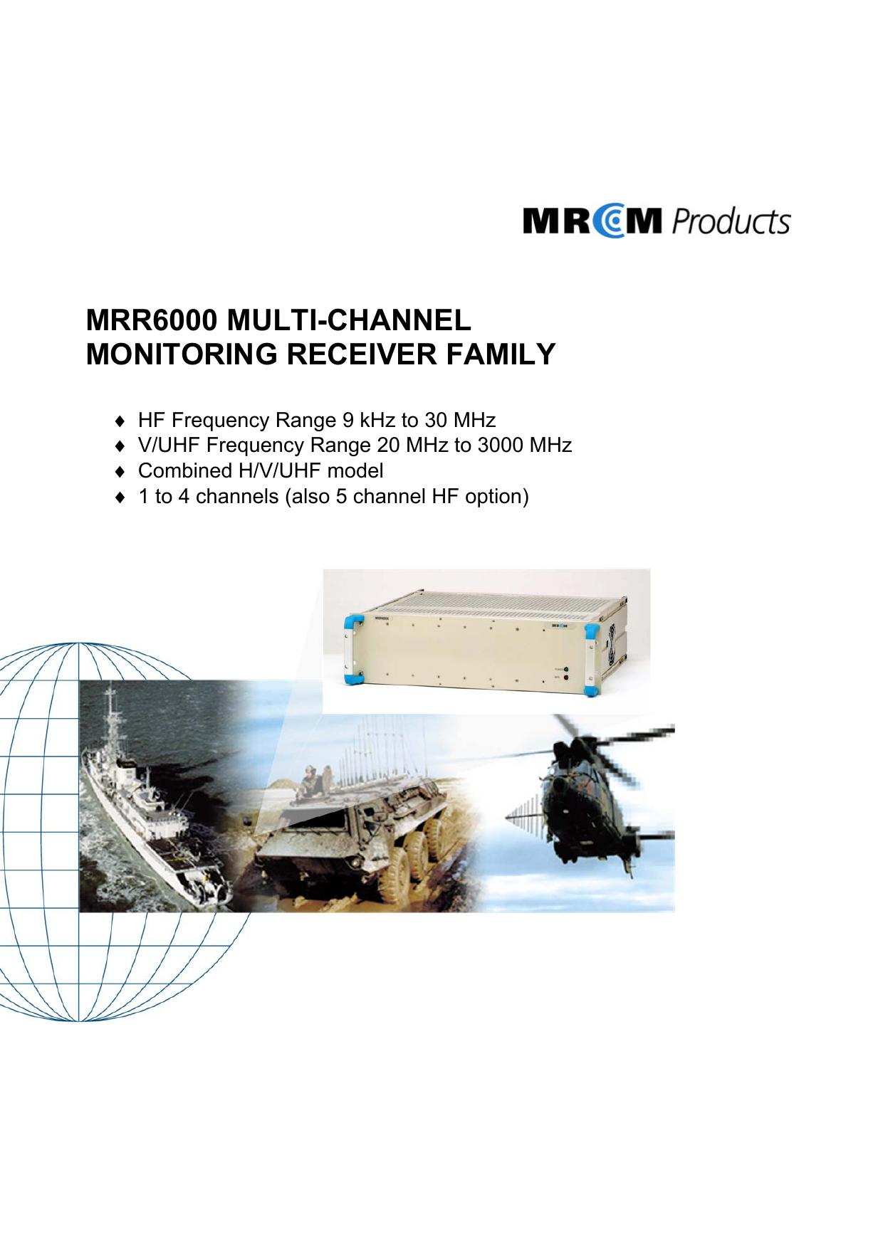 Brochure for MRR6000 Monitoring Receiver Family | manualzz com
