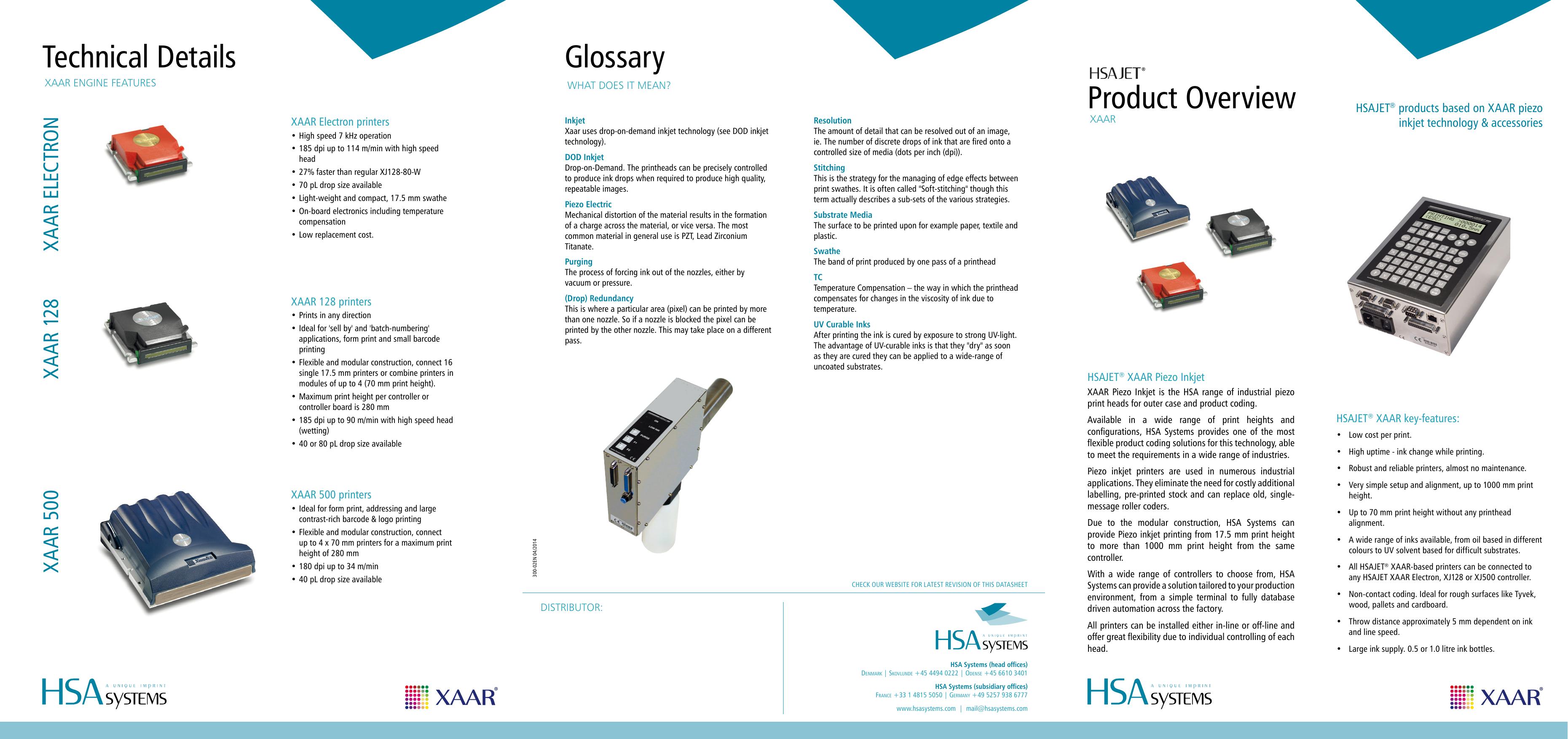 Xaar Product Overview | manualzz com