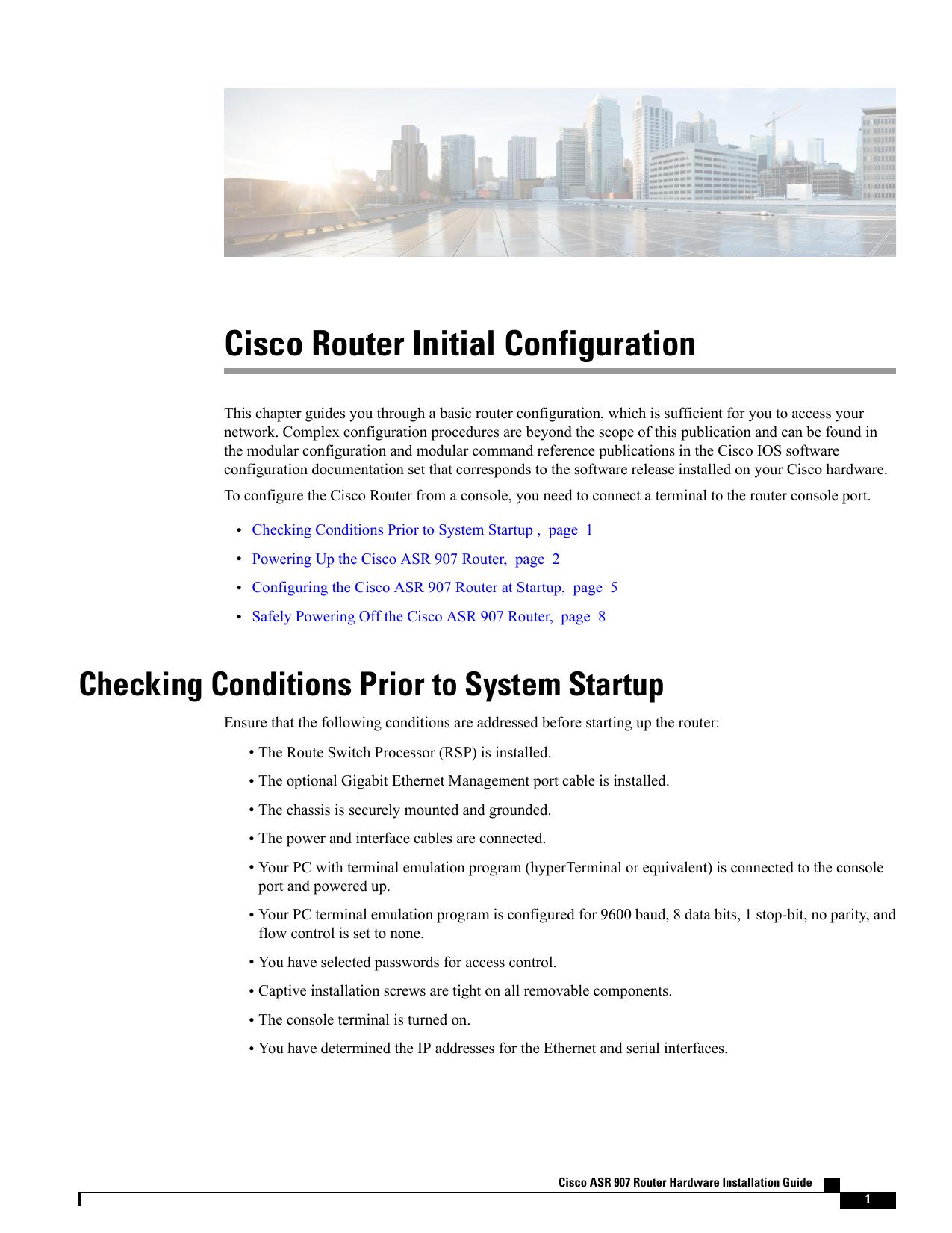 Cisco Router Initial Configuration | manualzz com