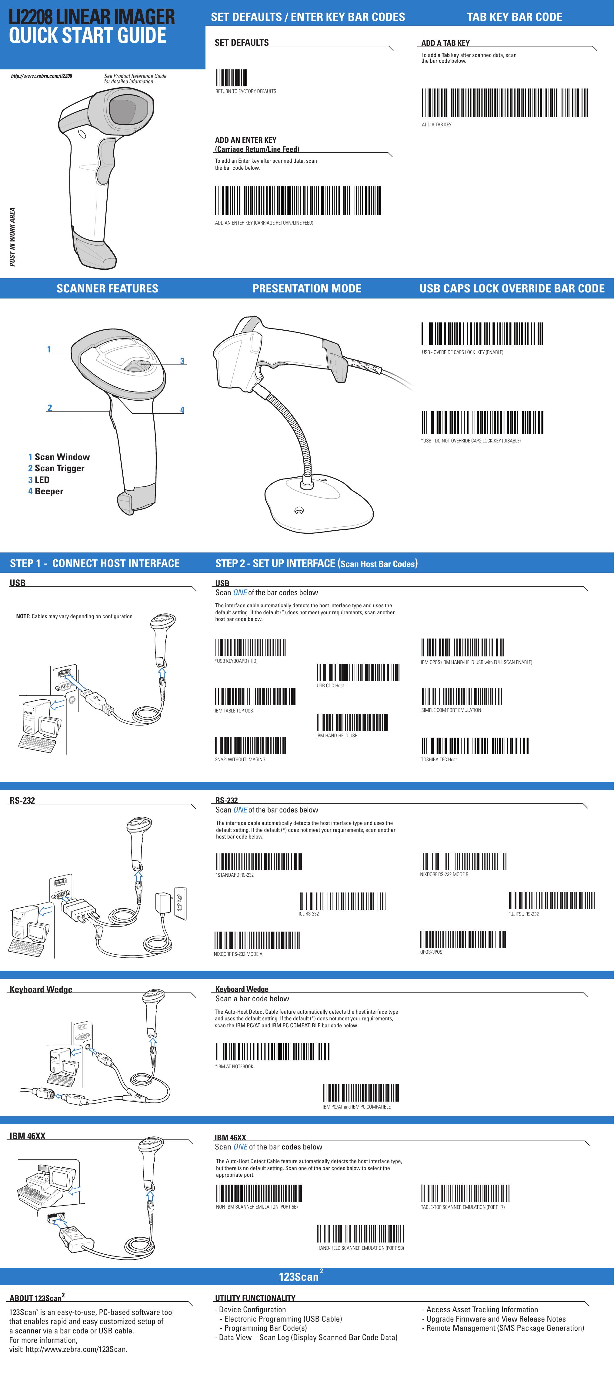 LI2208 Linear Imager Quick Start Guide (en) | manualzz com