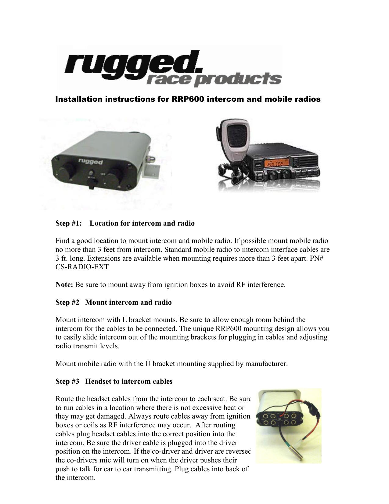 Rugged Radios RRP600 Instruction Manual | manualzz com