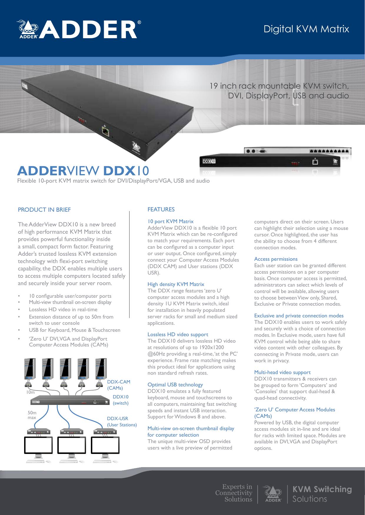 adderview ddx10   manualzz com