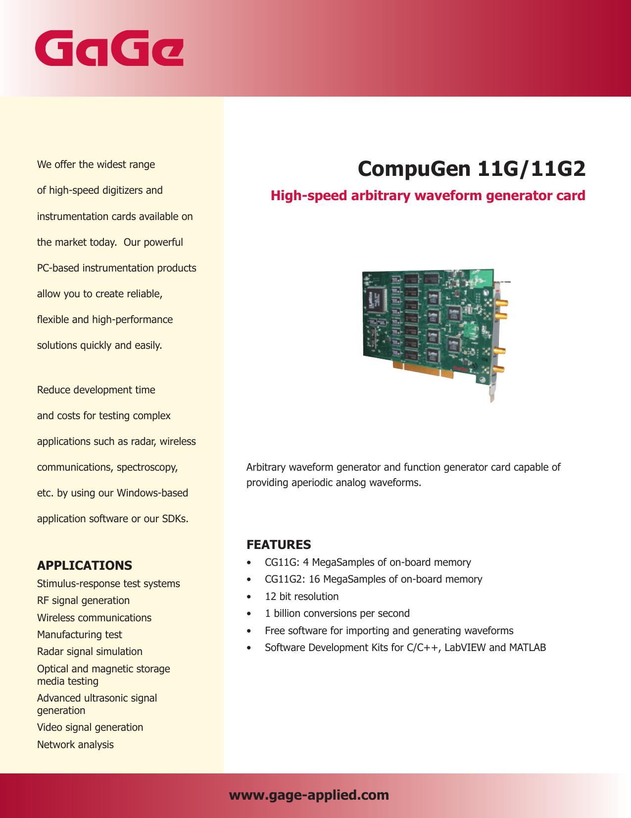 CompuGen 11G/11G2 - Egmont Instruments | manualzz com