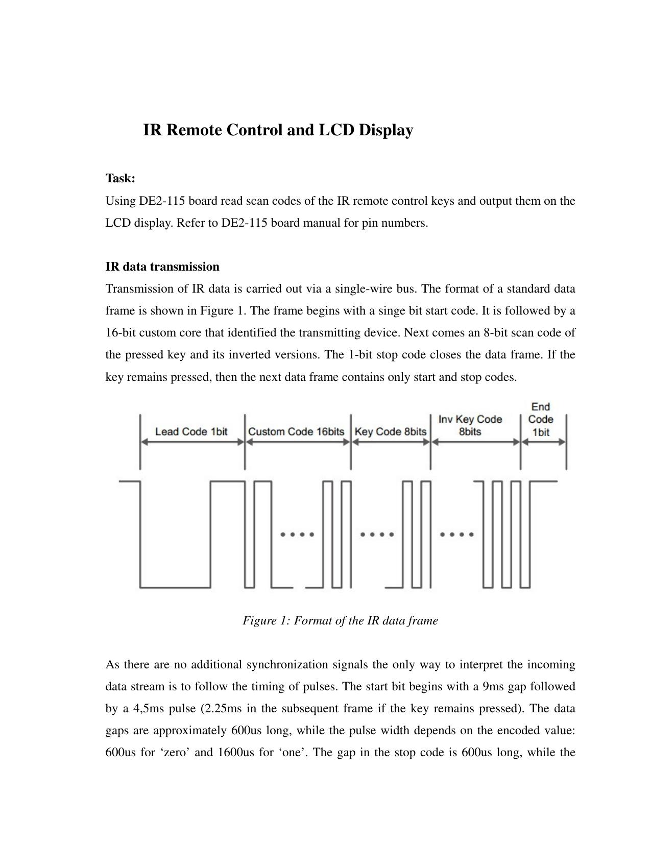 IR Remote Control and LCD Display | manualzz com