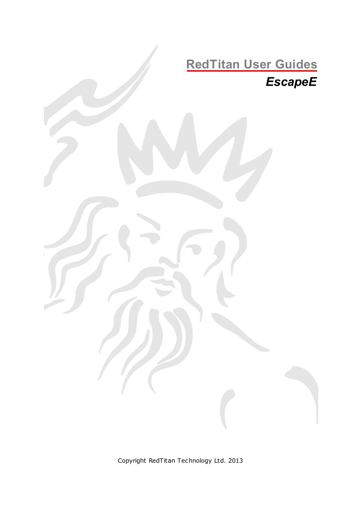 RedTitan User Guides EscapeE