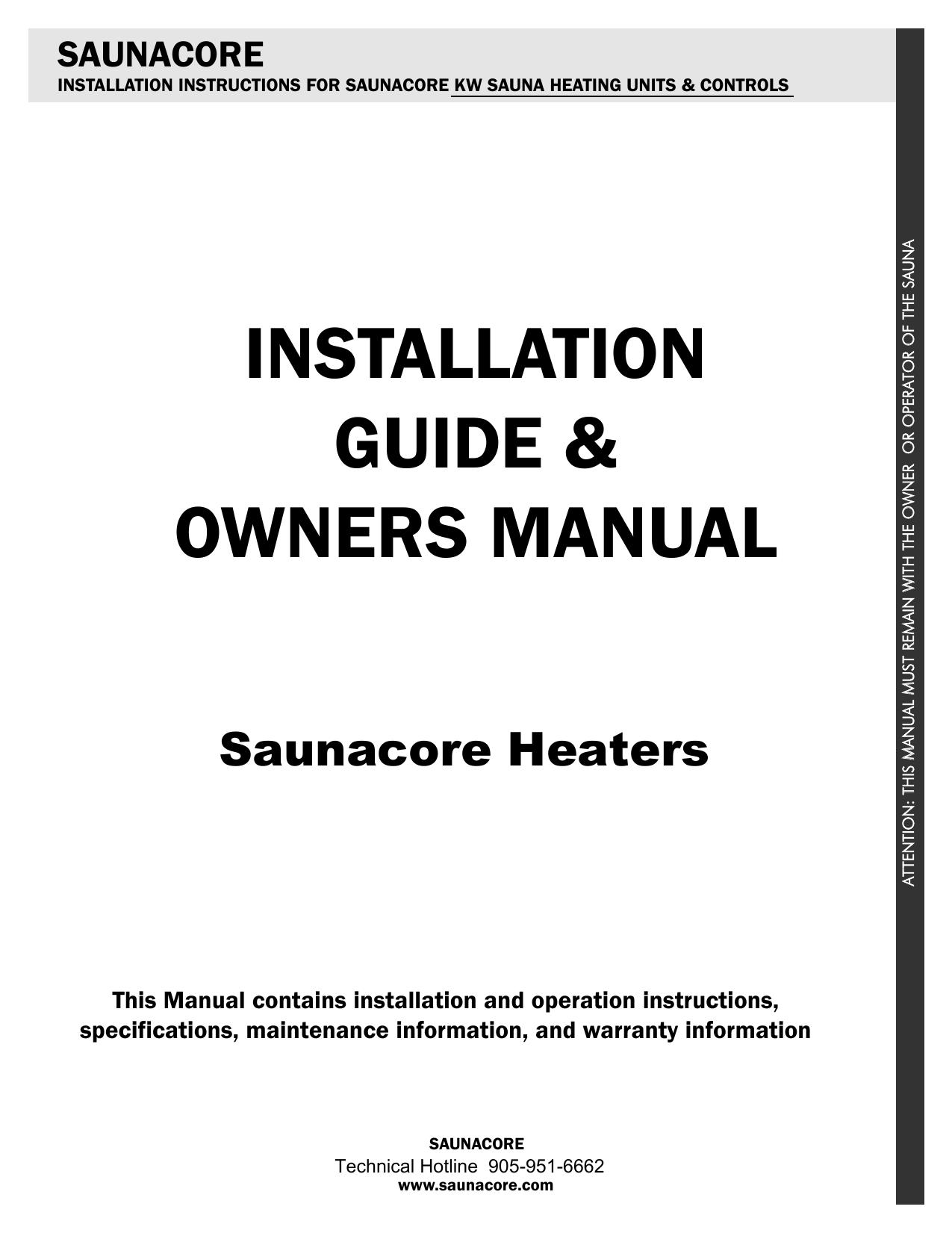 Saunacore Sauna Heater Manual Manualzzcom - Sauna heater wiring diagram