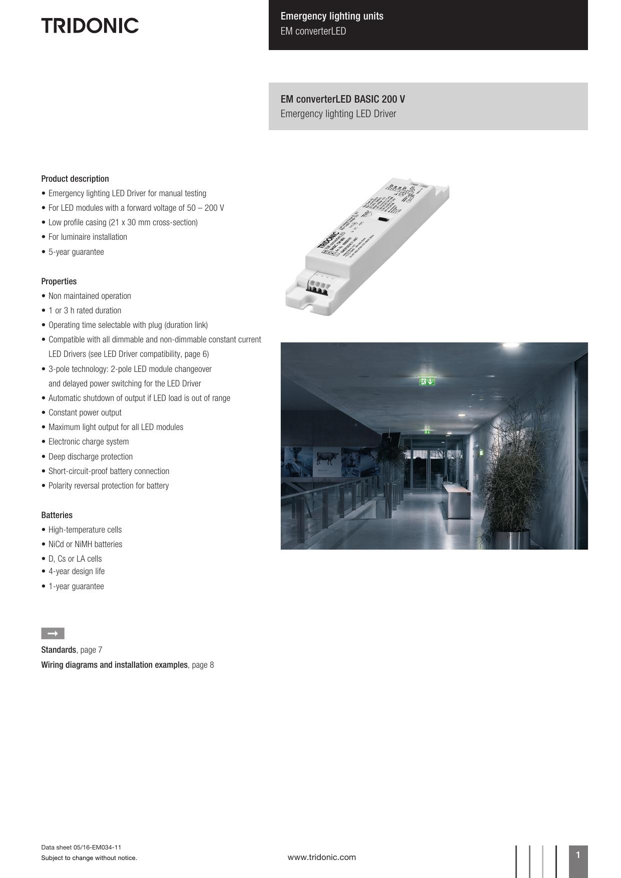 Emergency Lighting Units Em Converterled Basic Led Module Wiring Diagram