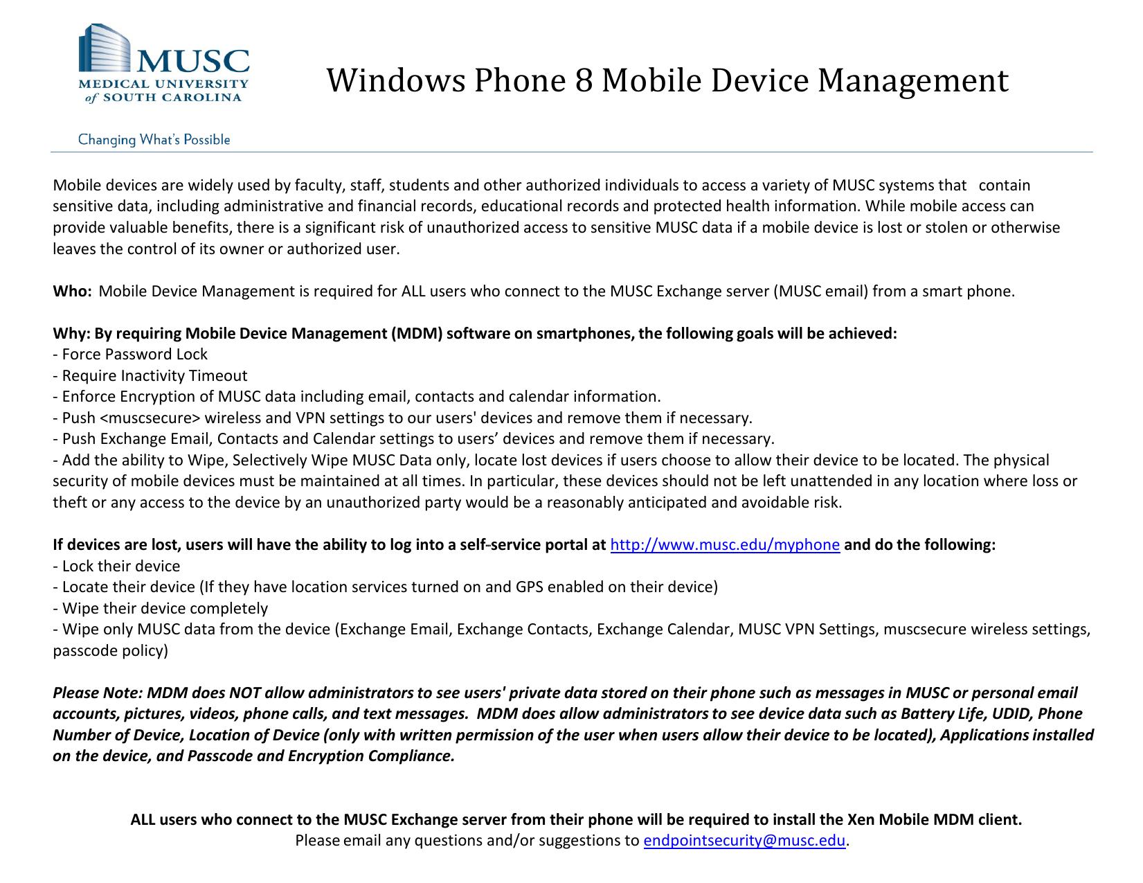 Windows Phone 8 Mobile Device Management | manualzz com