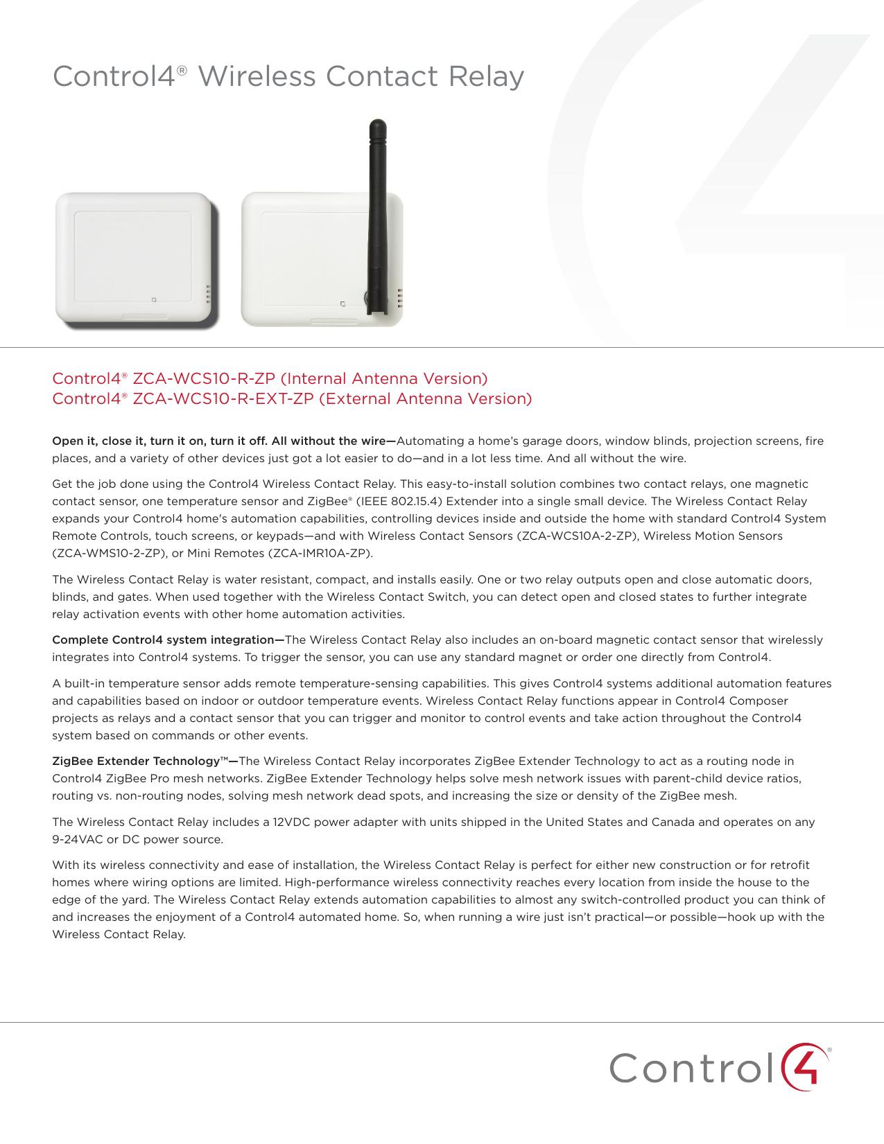 Wireless Contact Relay Data Sheet | manualzz com