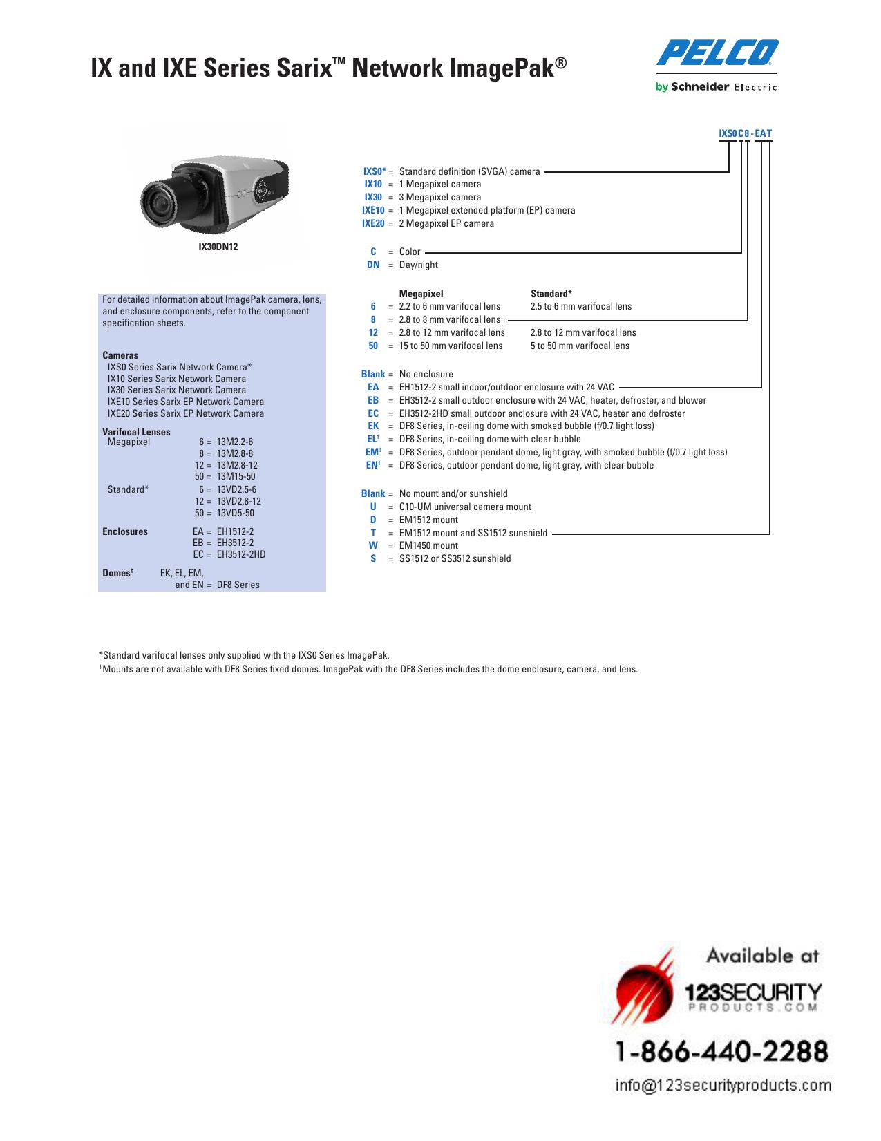 Pelco Schneider Electric C10-UM Universal C10 Series Cam//Mount