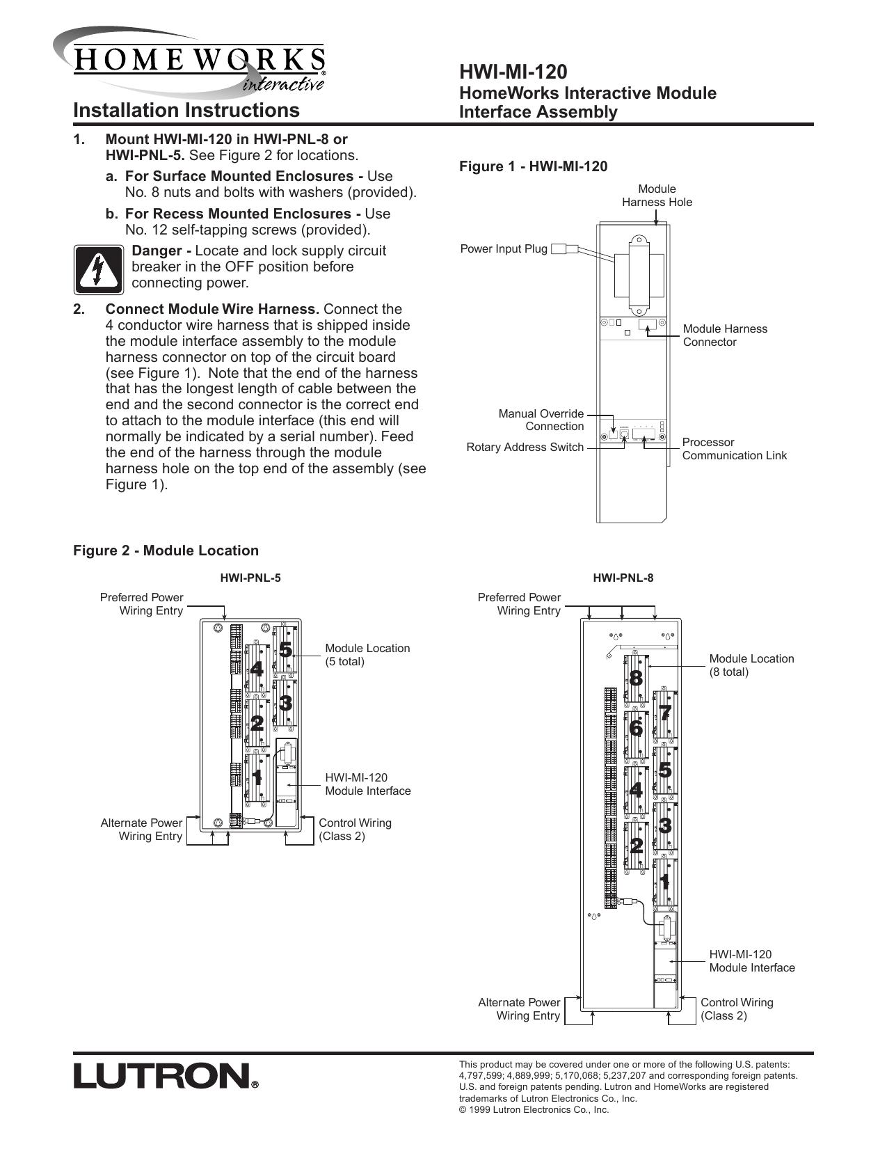 Installation Instructions HWI-MI-120   Manualzz   Hwi Pnl Lutron Homeworks Wiring Diagram 5      manualzz