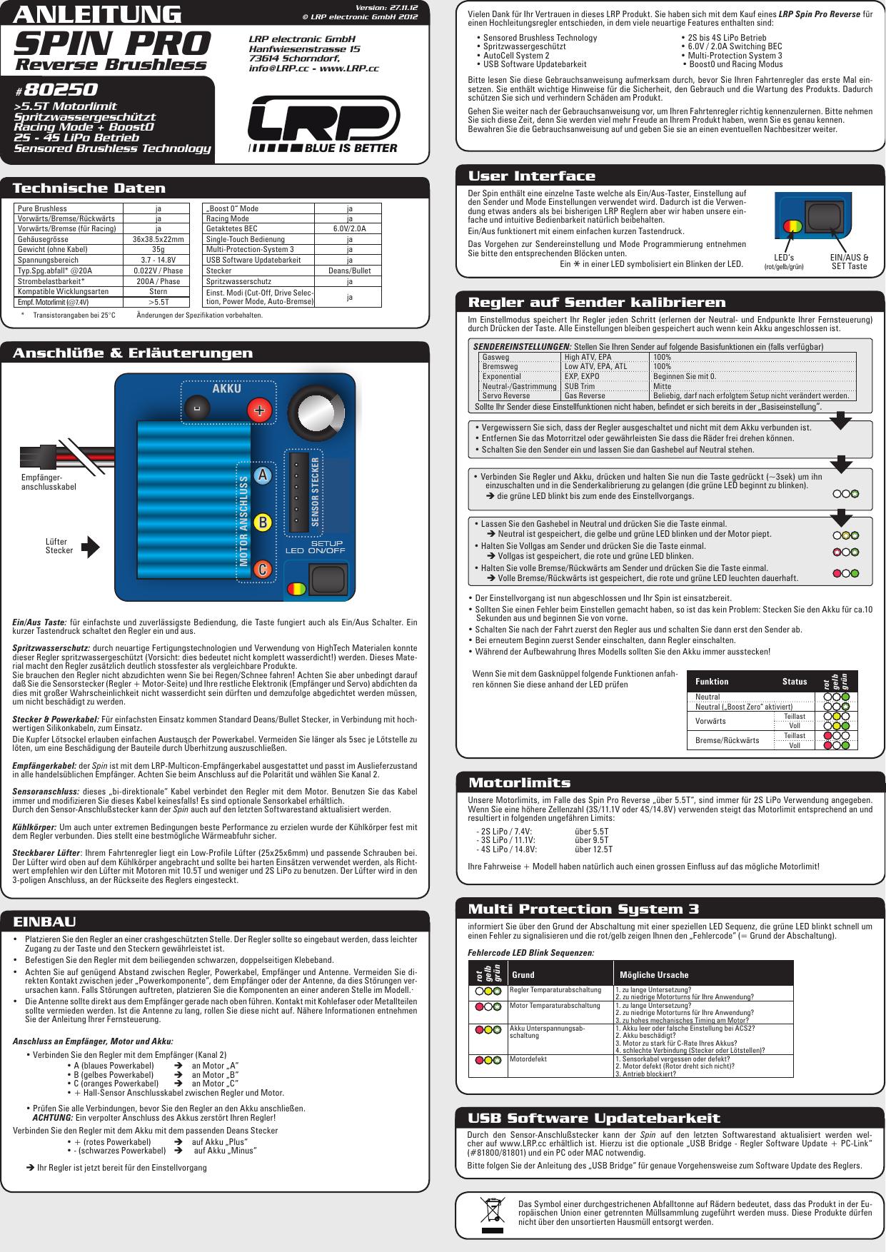"""LRP Sensorkabel /""""HighFlex/"""" 200mm 819320 Brushless Motor Regler Sensor Kabel"""