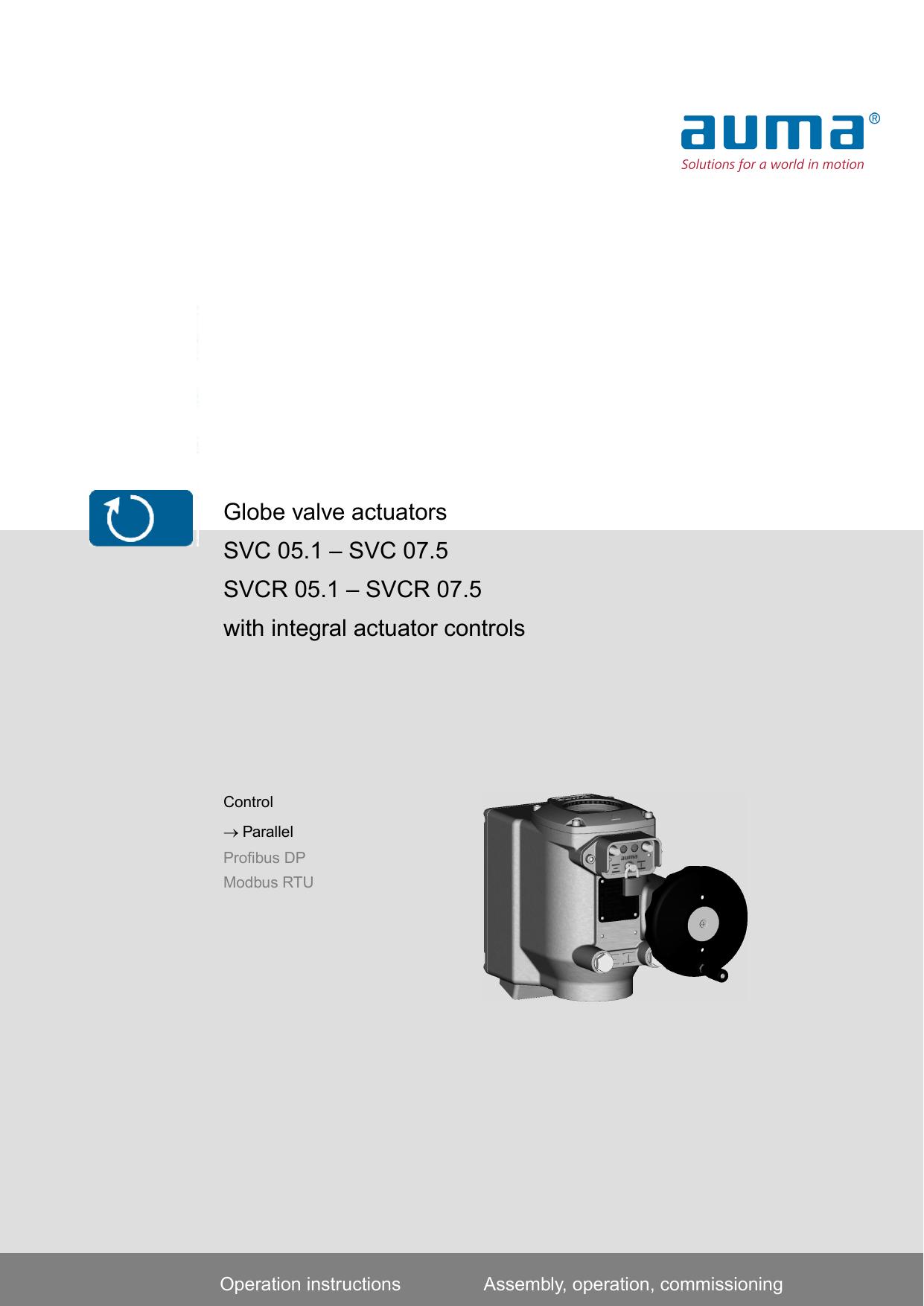 Globe Valve Actuators Svc 051 075 Svcr Auma Wiring Diagram