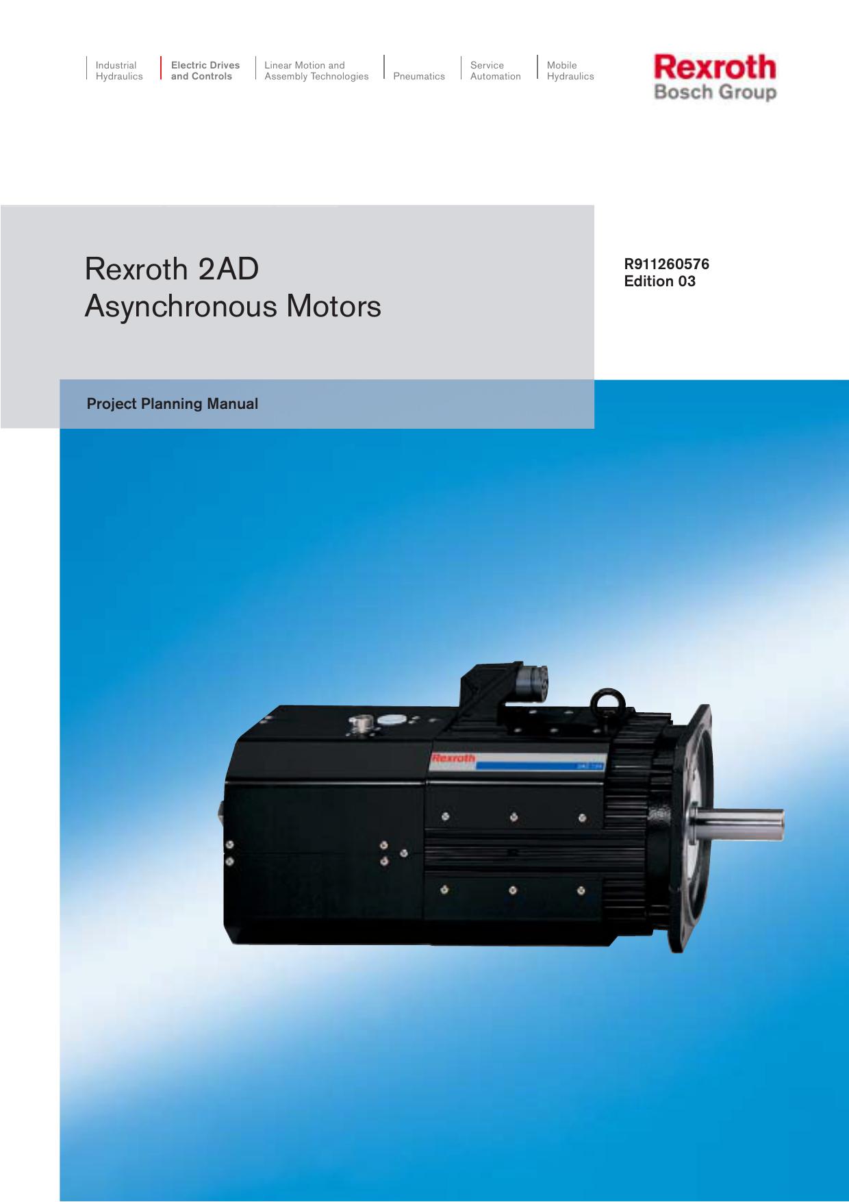 Rexroth 2AD Asynchronous Motors | manualzz com