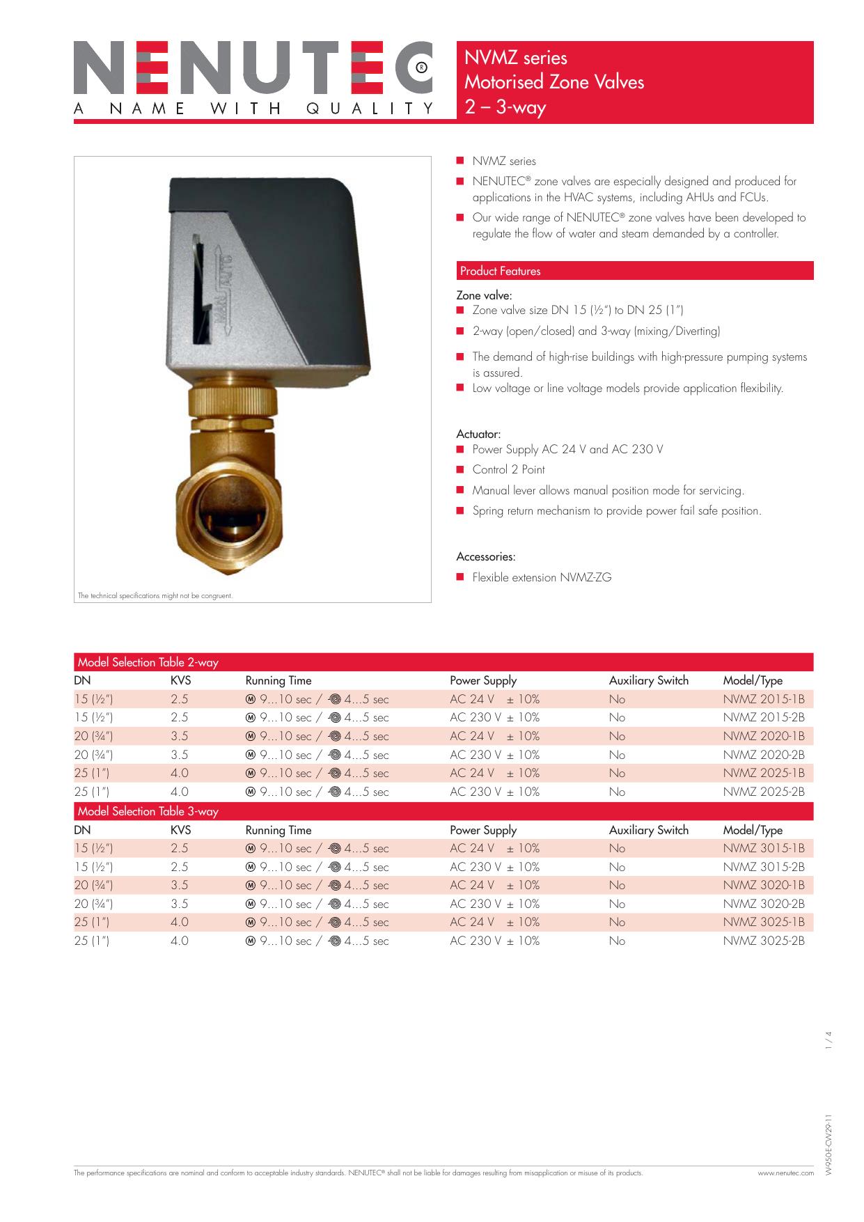 Nvmz Series Motorised Zone Valves 2 3 Way Switch Mechanism