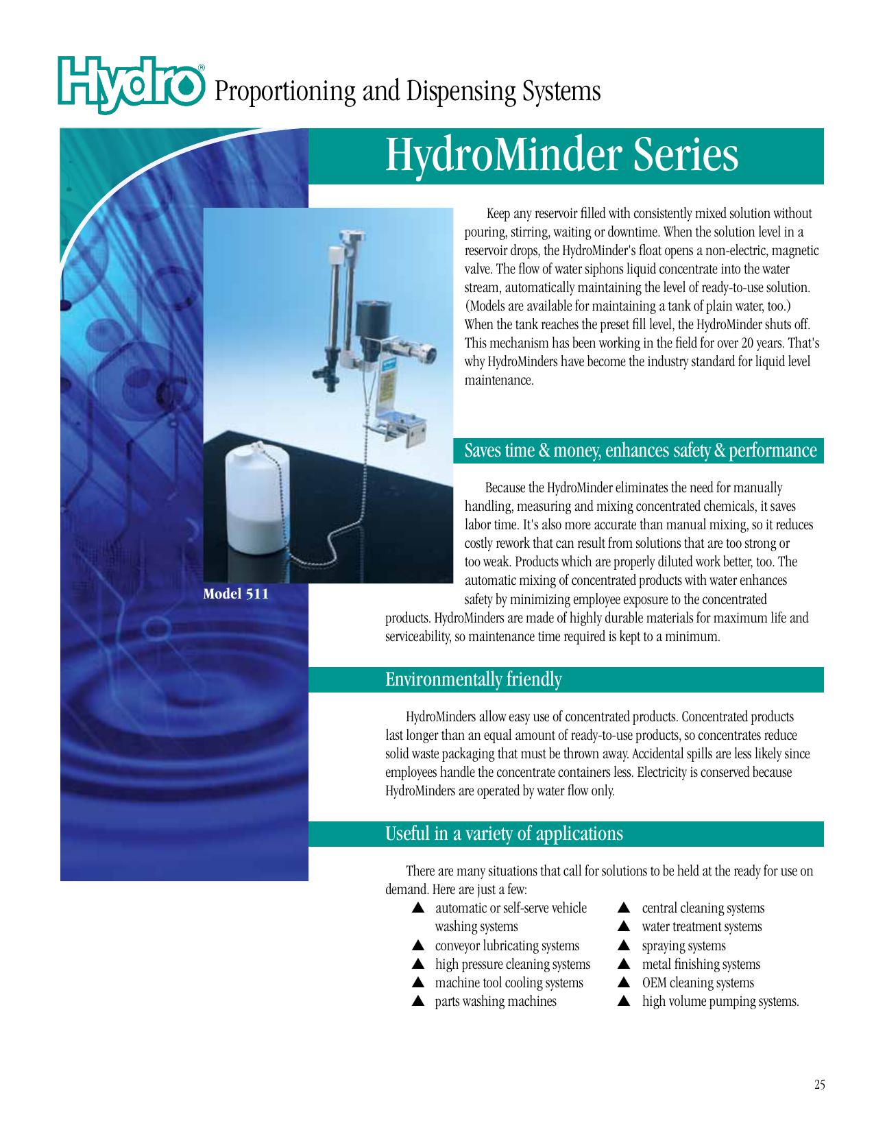 Hydrominder 515 Low volume unit w// Siphon Breaker /& Mounting Bracket 1.5 GPM