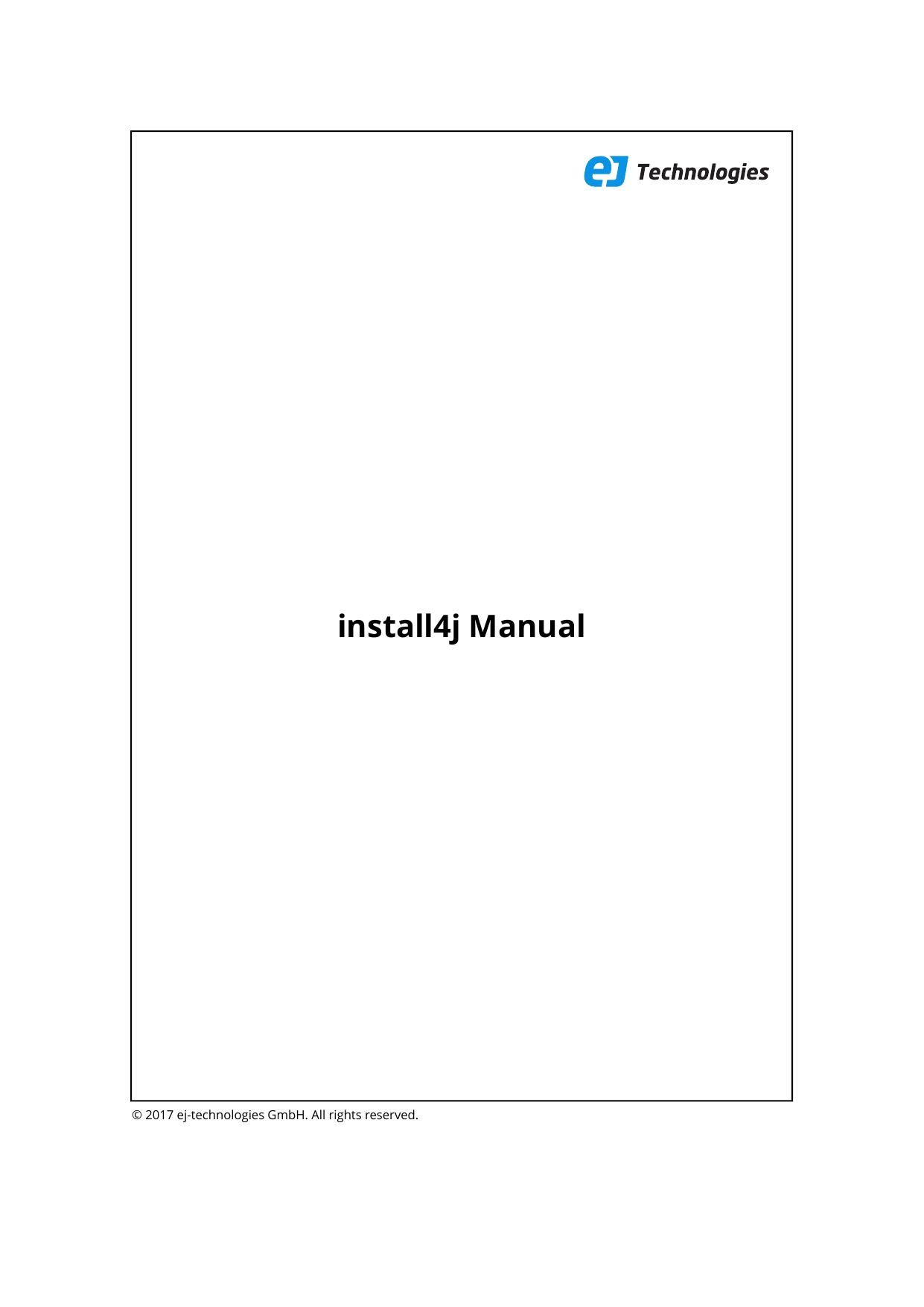 install4j Manual - EJ Technologies | manualzz com