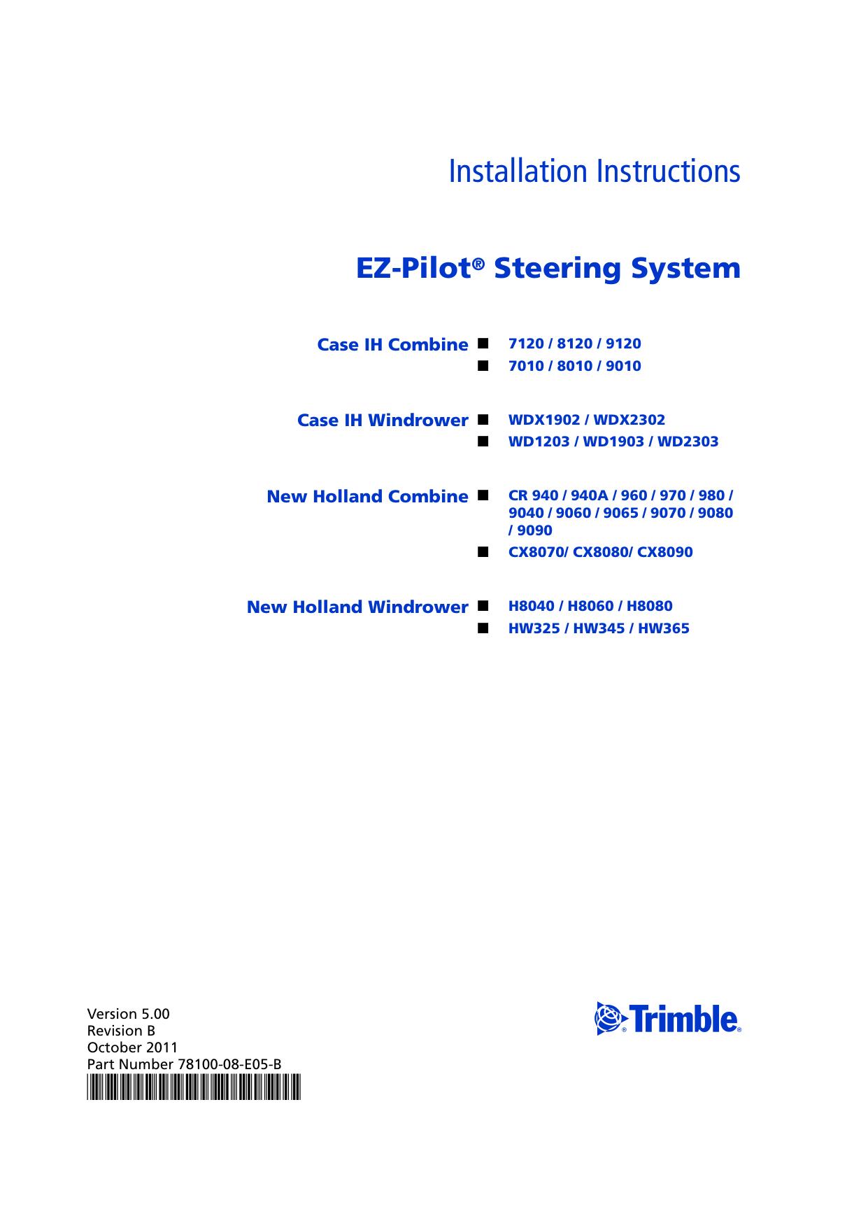 EZ-Pilot Steering System Installation Instructions | manualzz.com on