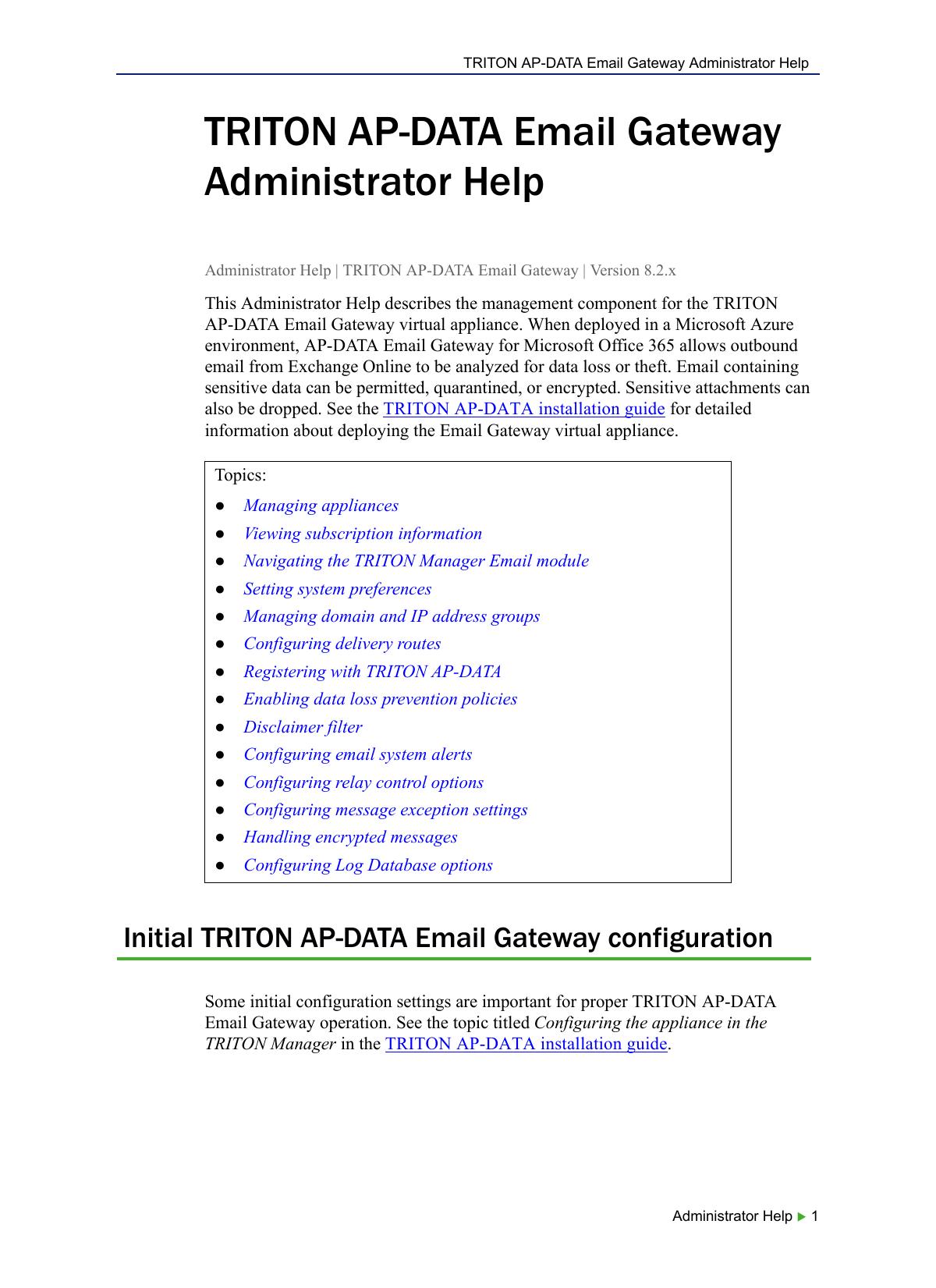 Triton ap data email gateway administrator help kristyandbryce Images