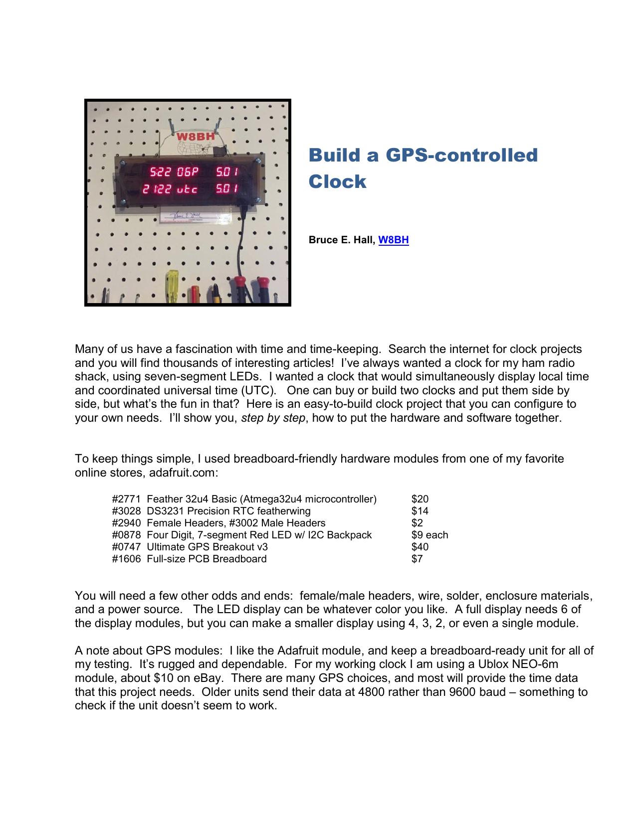 Build a GPS-controlled Clock | manualzz com