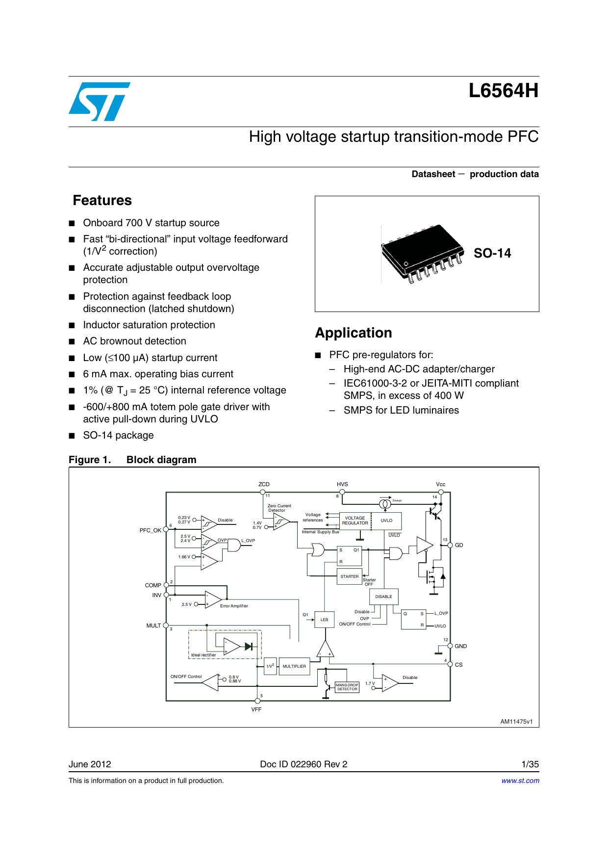 High voltage start-up transition-mode PFC | manualzz com