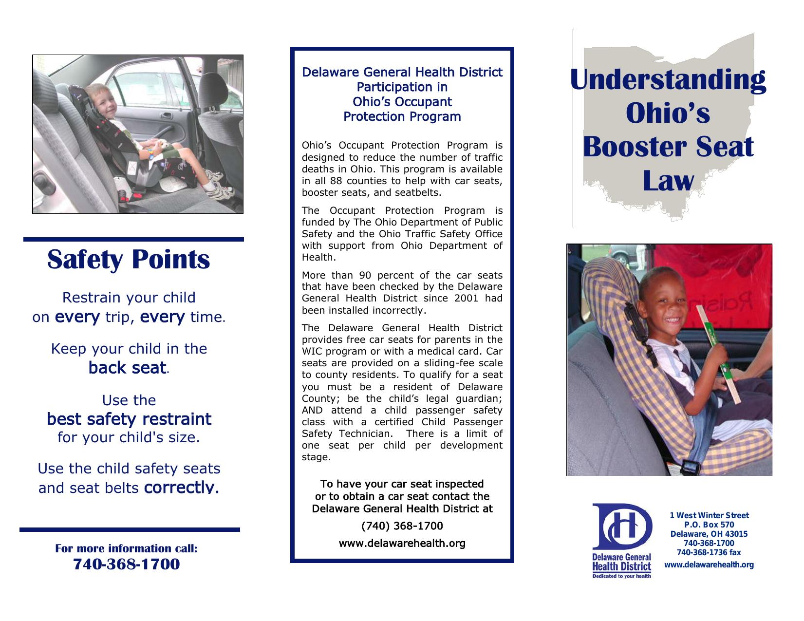 Understanding Ohio S Booster Seat Law Manualzz Com
