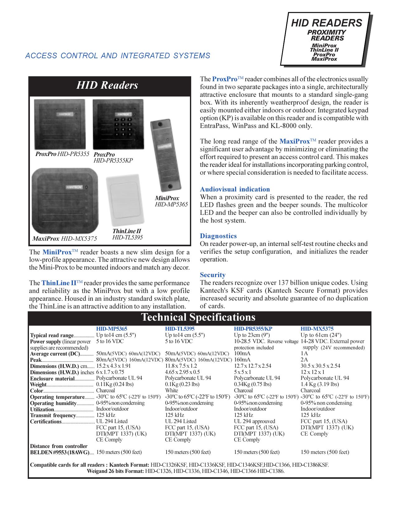 HID readers Cutsheet 9702   manualzz.com on