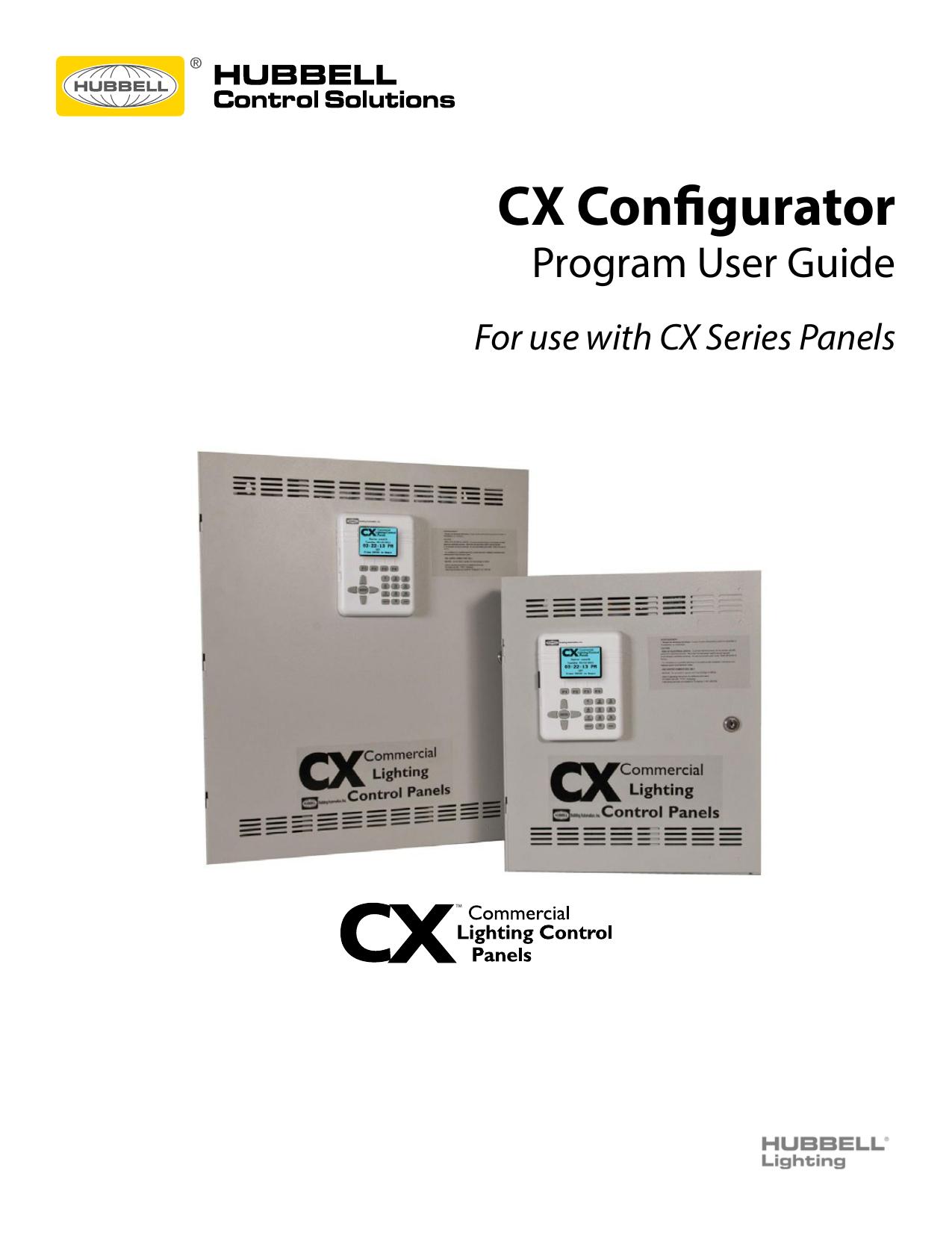 Cx Configurator Hubbell Control Solutions Manualzz