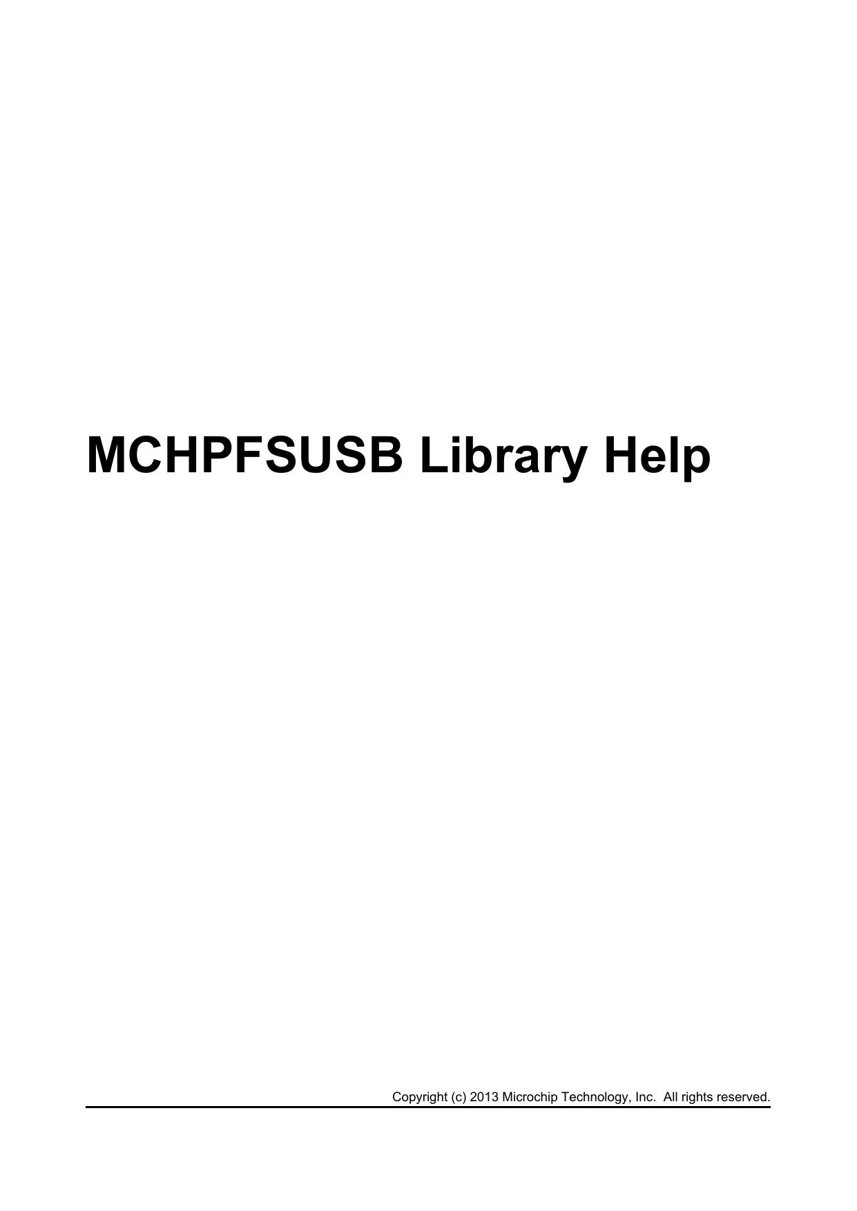 MCHPFSUSB Library Help | manualzz com