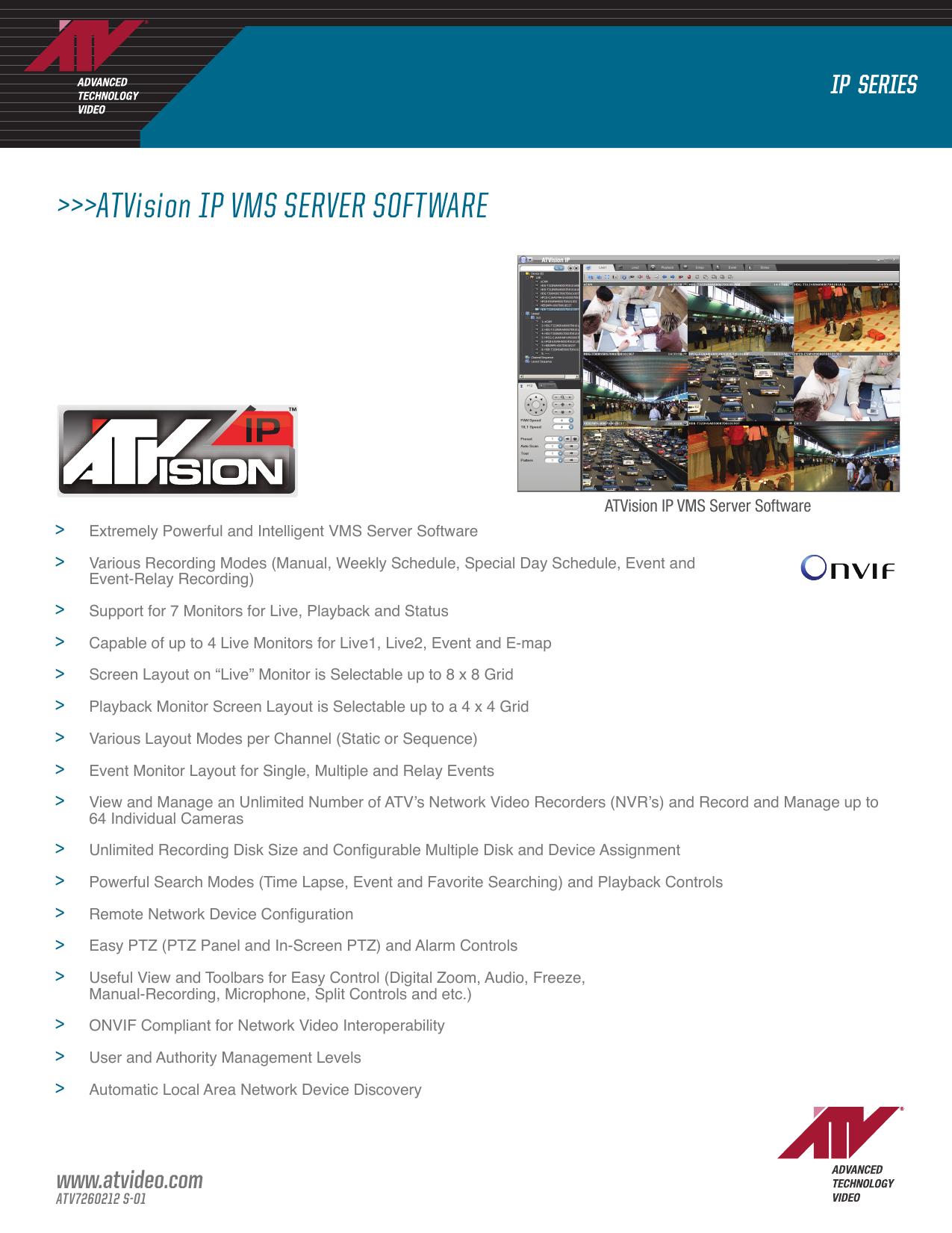 ATVision IP VMS SERVER SOFTWARE | manualzz com