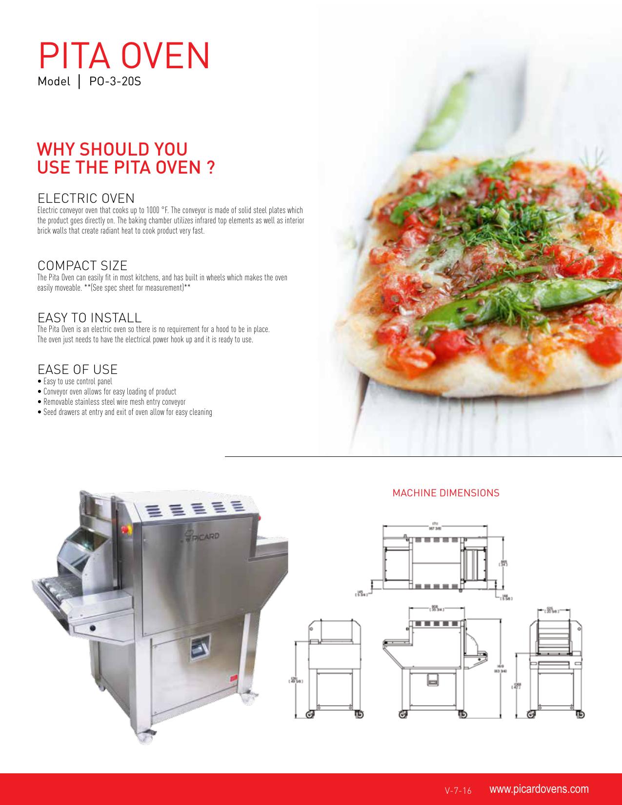 Pita oven - Picard Ovens   manualzz com