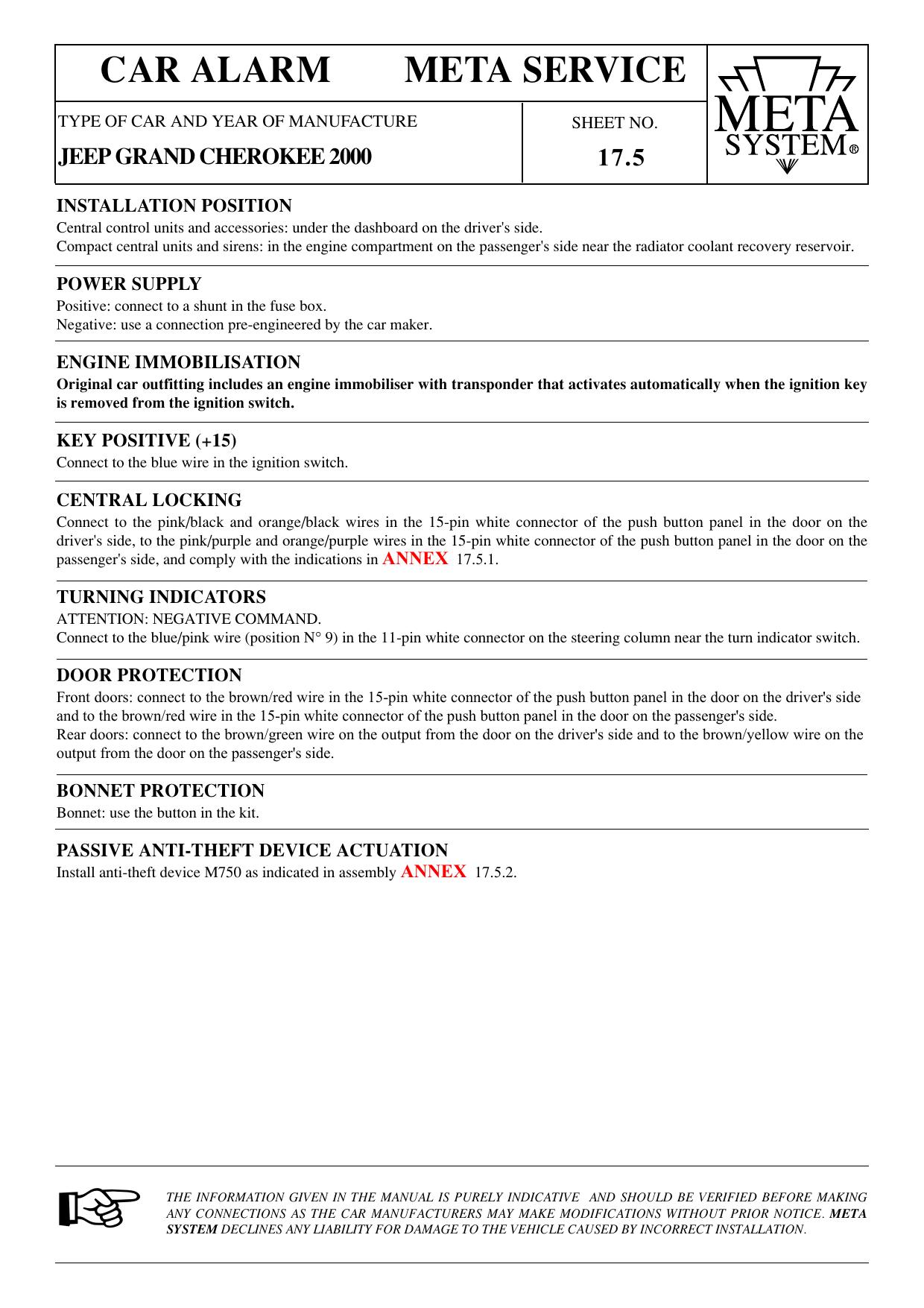 CAR ALARM META SERVICE | Manualzzmanualzz