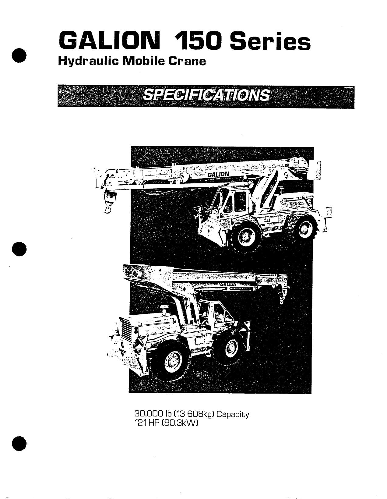 galion 150a 15 ton - Maxim Crane Works | manualzz com