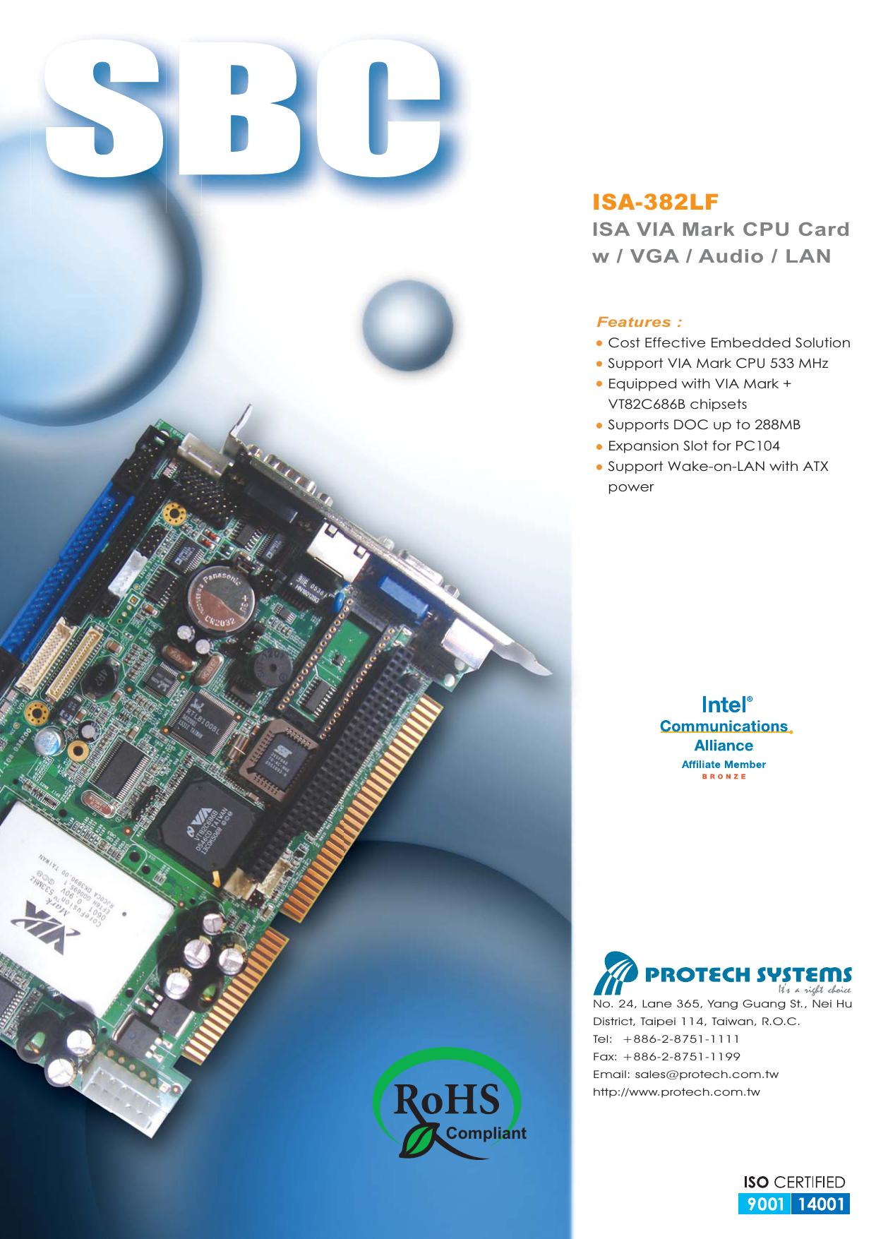 Protech ISA-382LF VGA Windows 7 64-BIT