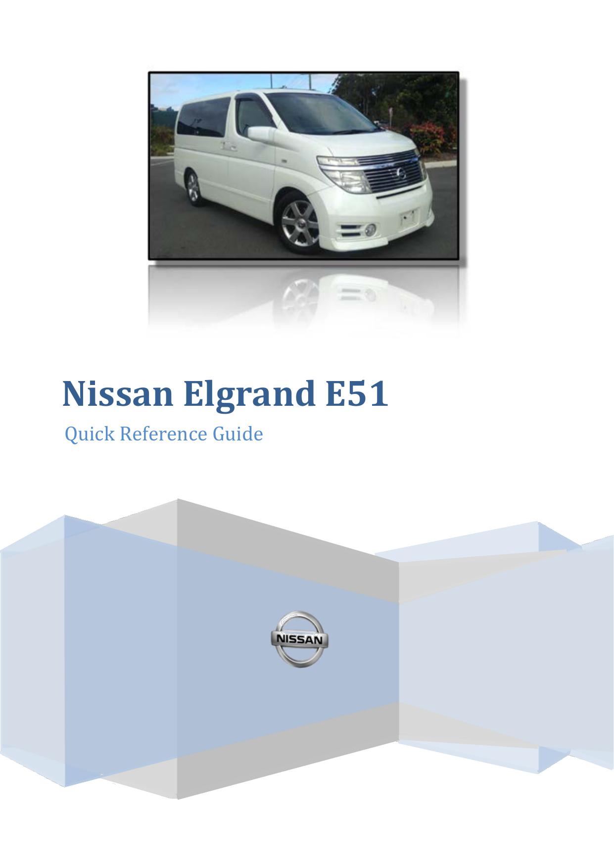 Nissan Elgrand E51 Fuse Box Diagram