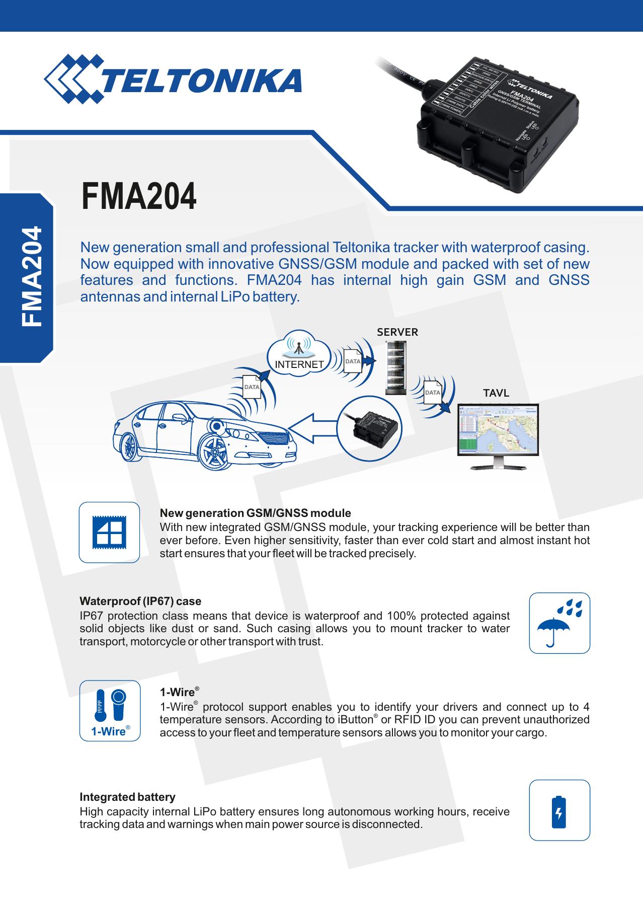 FMA204 - Teltonika | manualzz com