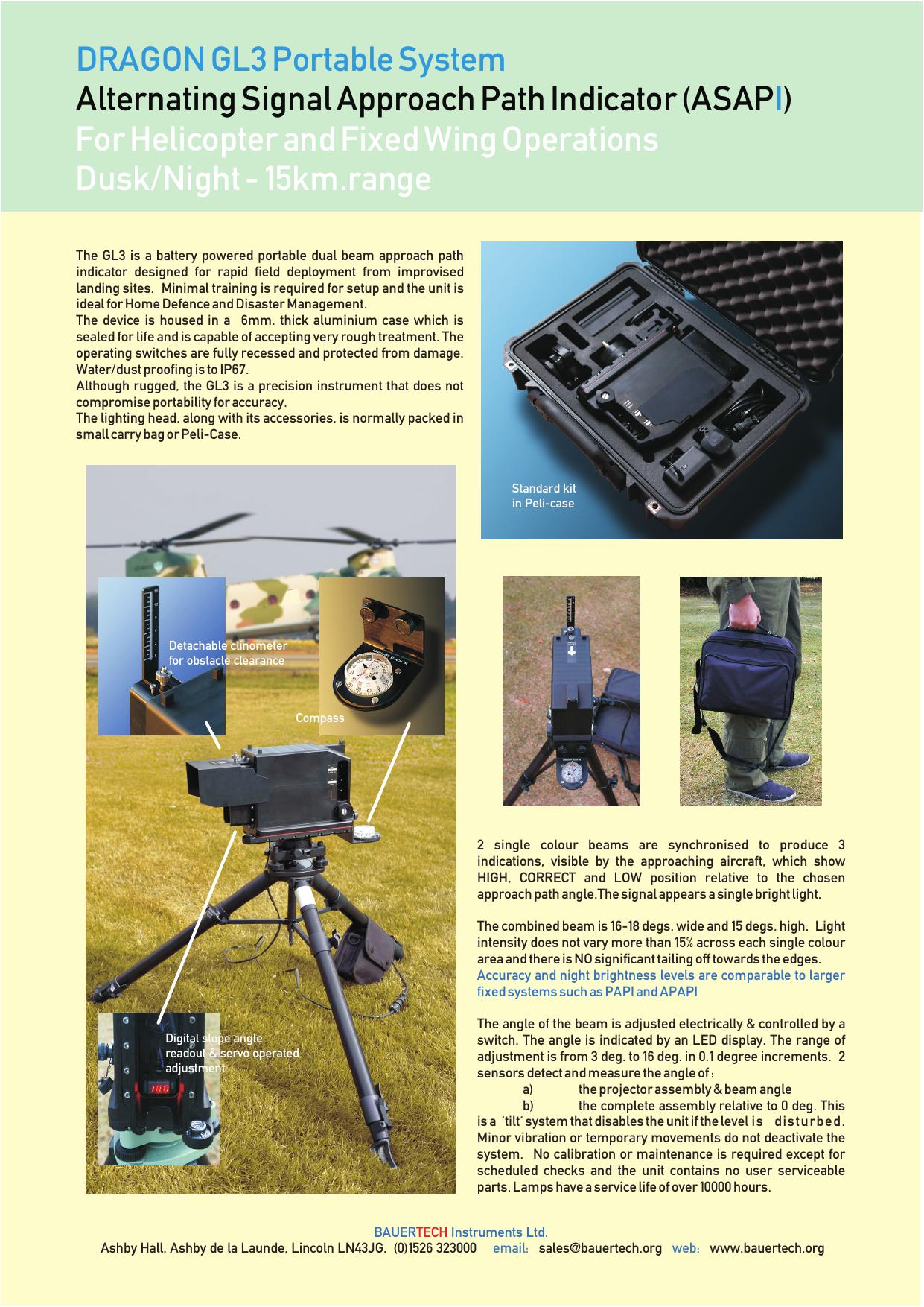 DRAGON GL3 Portable System I Alternating Signal Approach Path