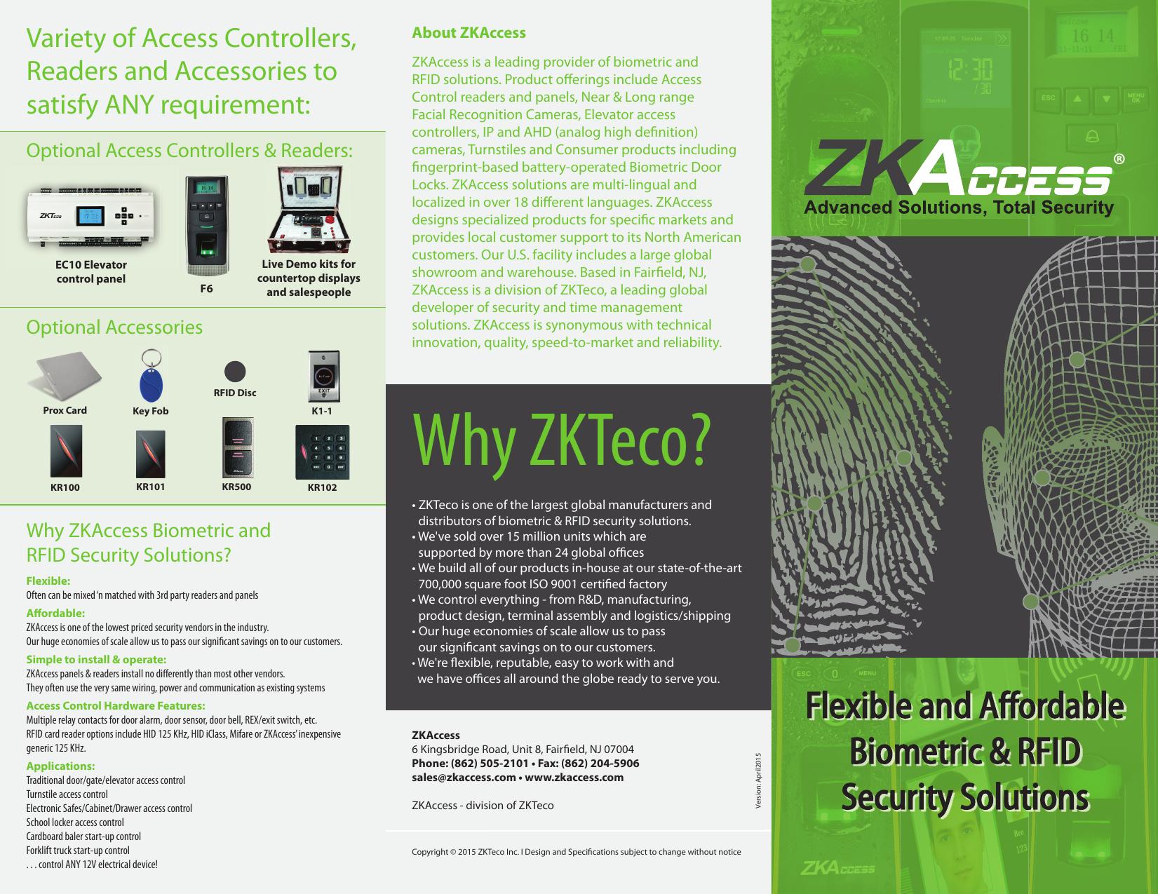 Why ZKTeco?   manualzz com