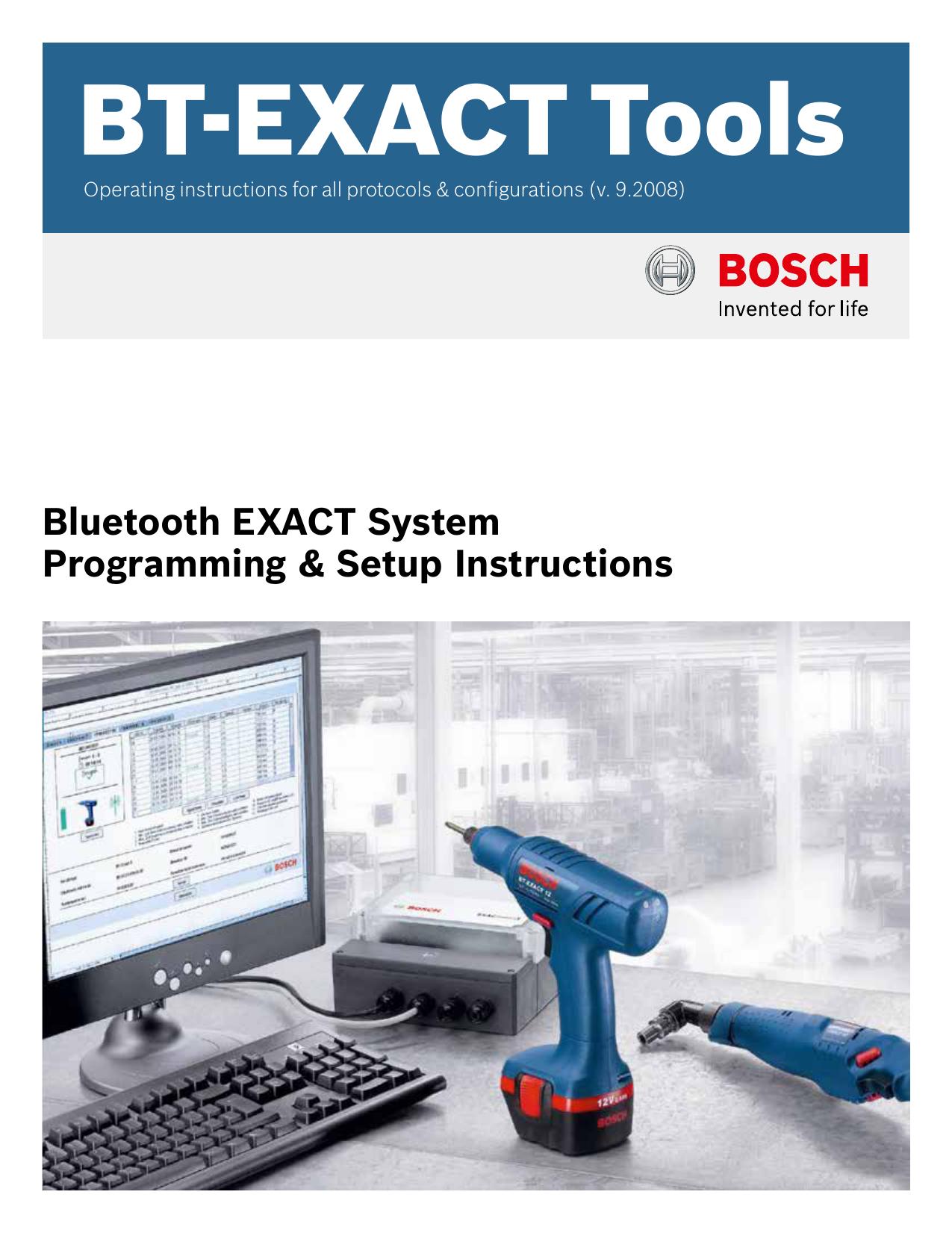 BT-EXACT Tools - Bosch Production Tools